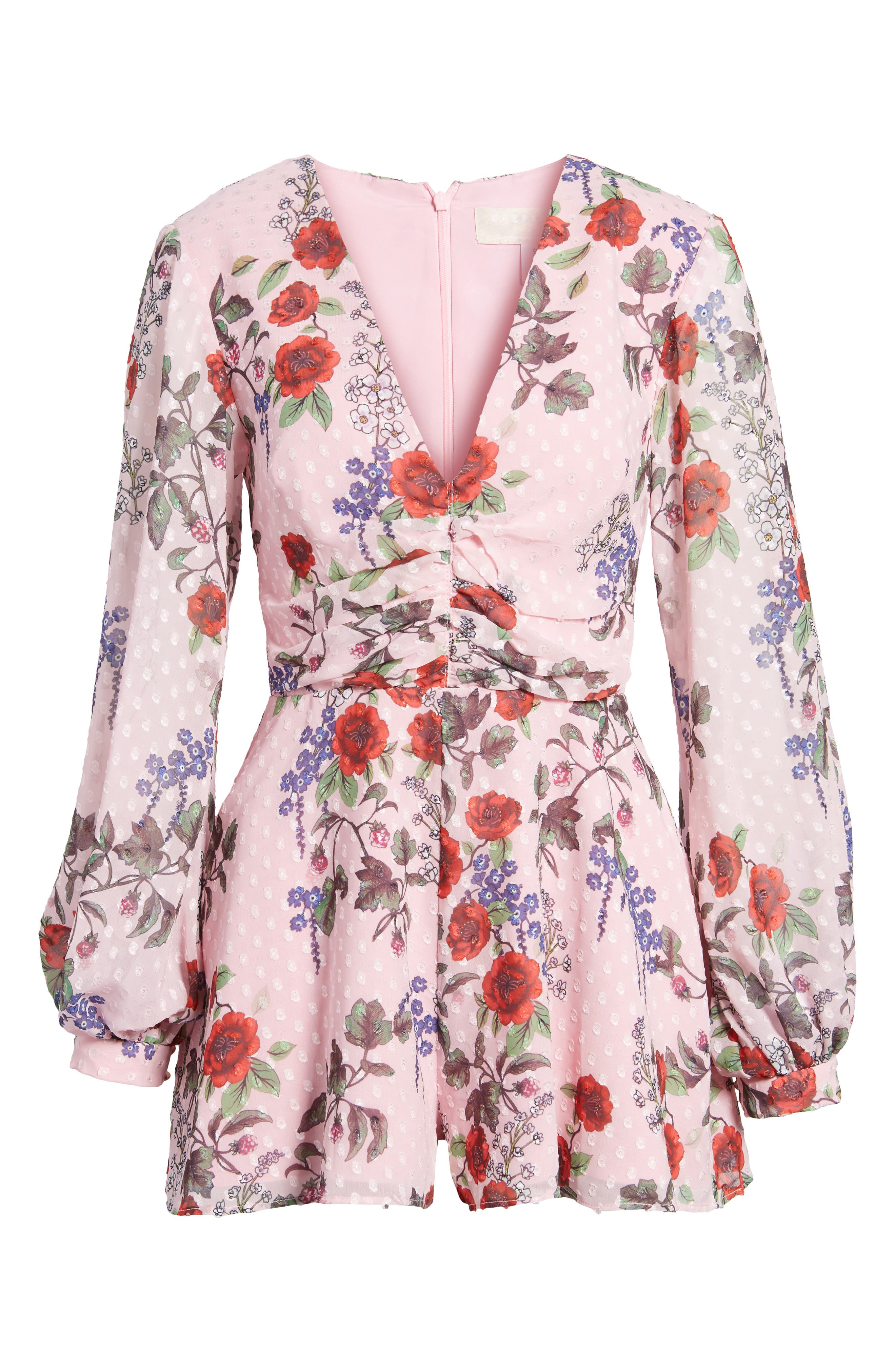 Need You Now Romper,                             Alternate thumbnail 7, color,                             Powder Pink Floral
