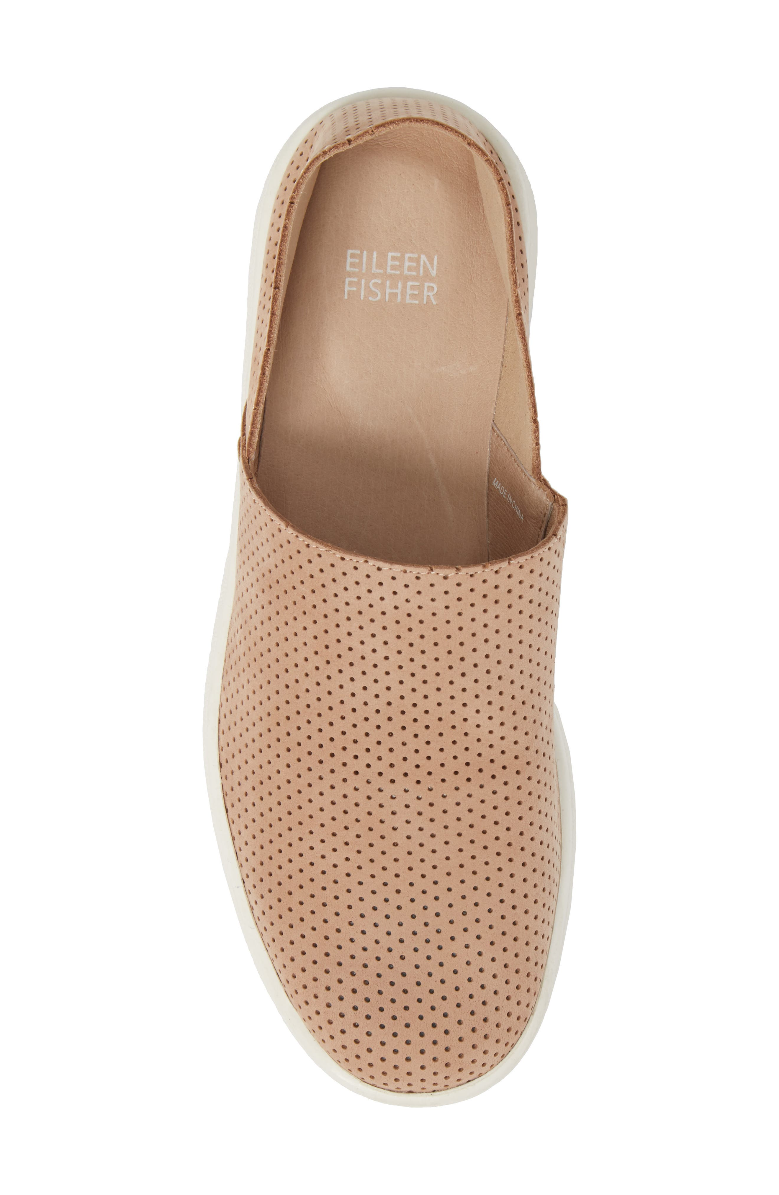 Alternate Image 5  - Eileen Fisher Panda Perforated Slip-On Sneaker (Women)