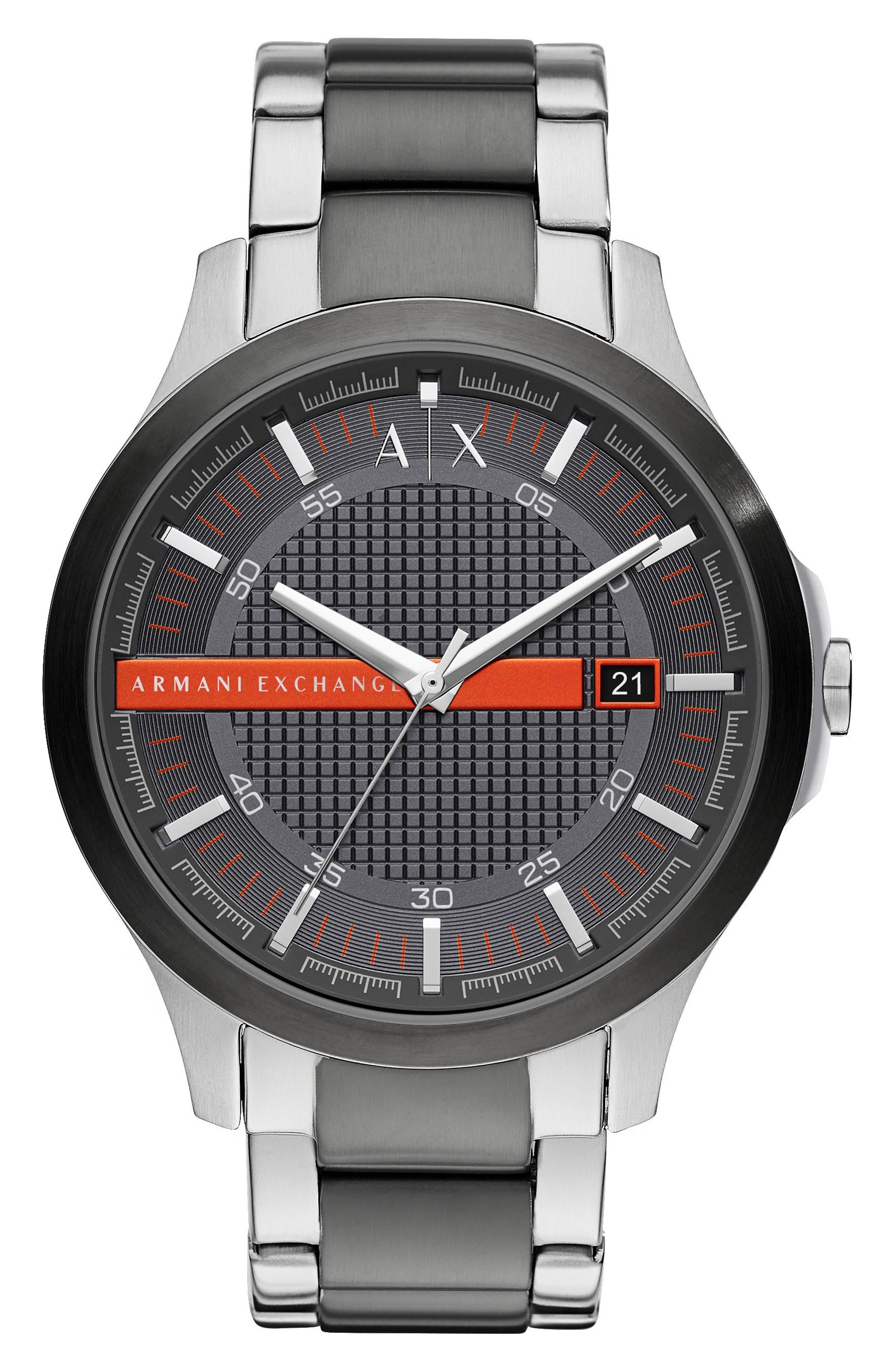 AX Armani Exchange Two-Tone Bracelet Watch, 46mm