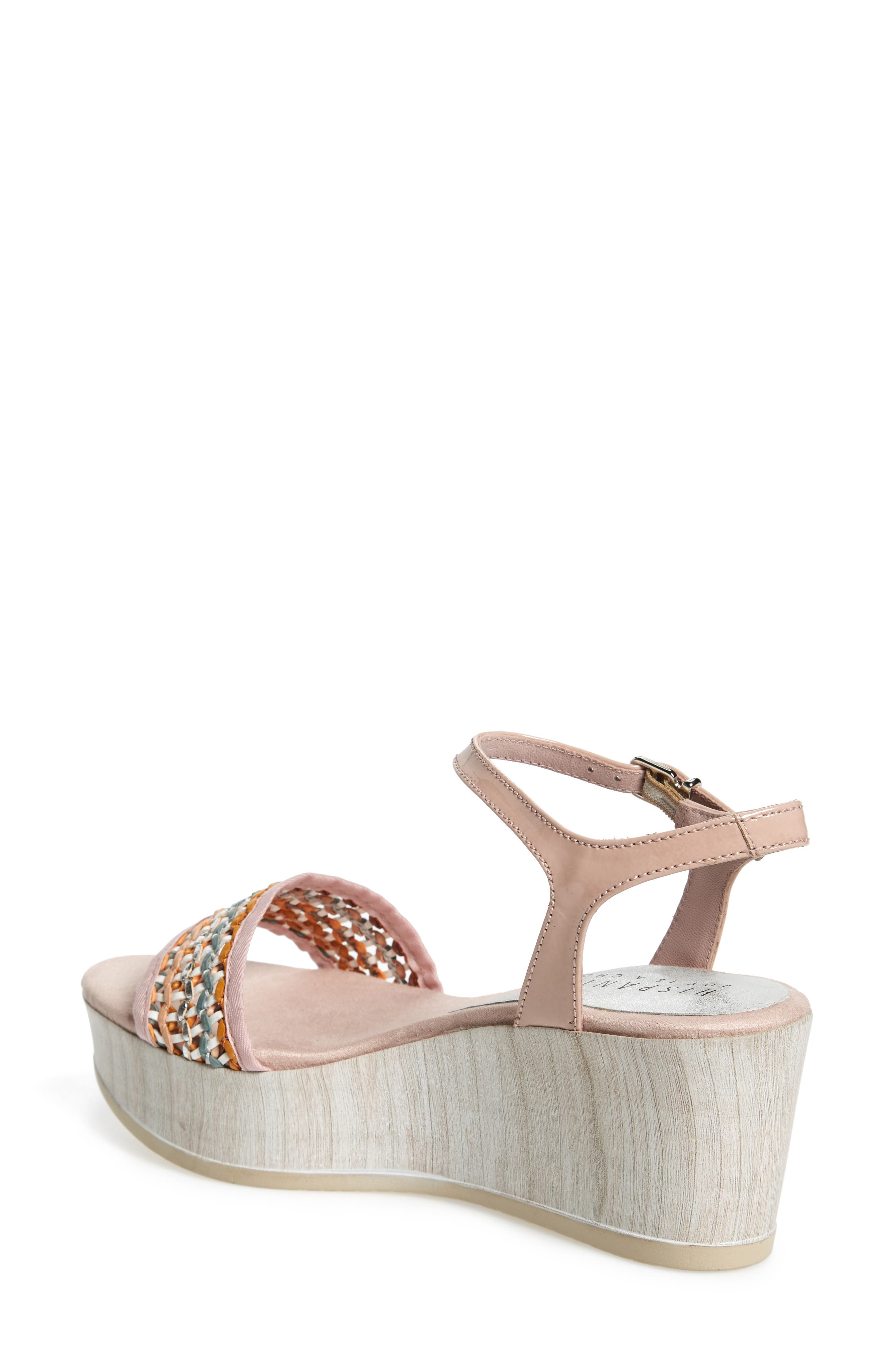 Colbi Platform Wedge Sandal,                             Alternate thumbnail 2, color,                             Amalfittana Leather
