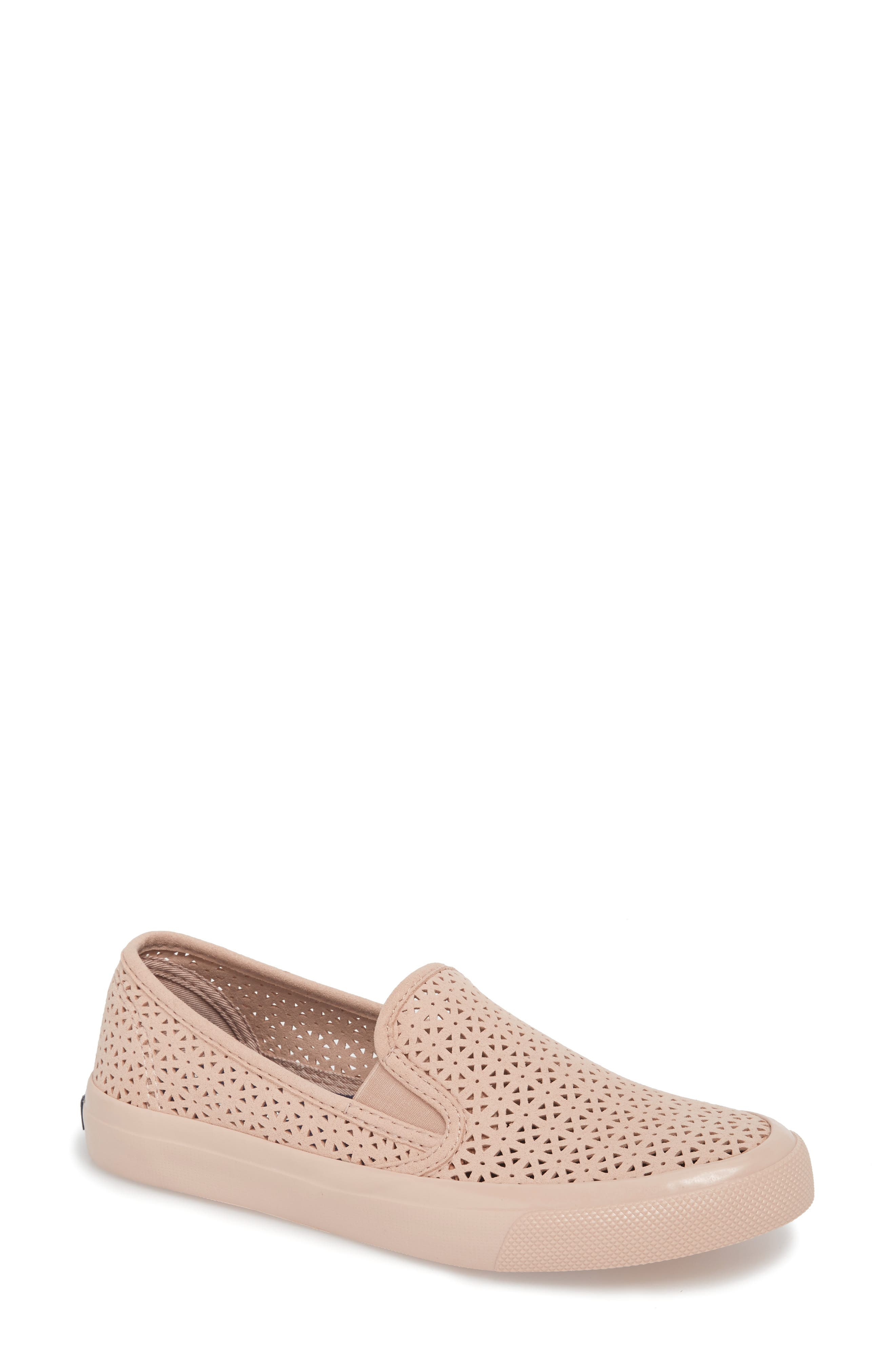 Main Image - Sperry Seaside Nautical Perforated Slip-On Sneaker (Women)