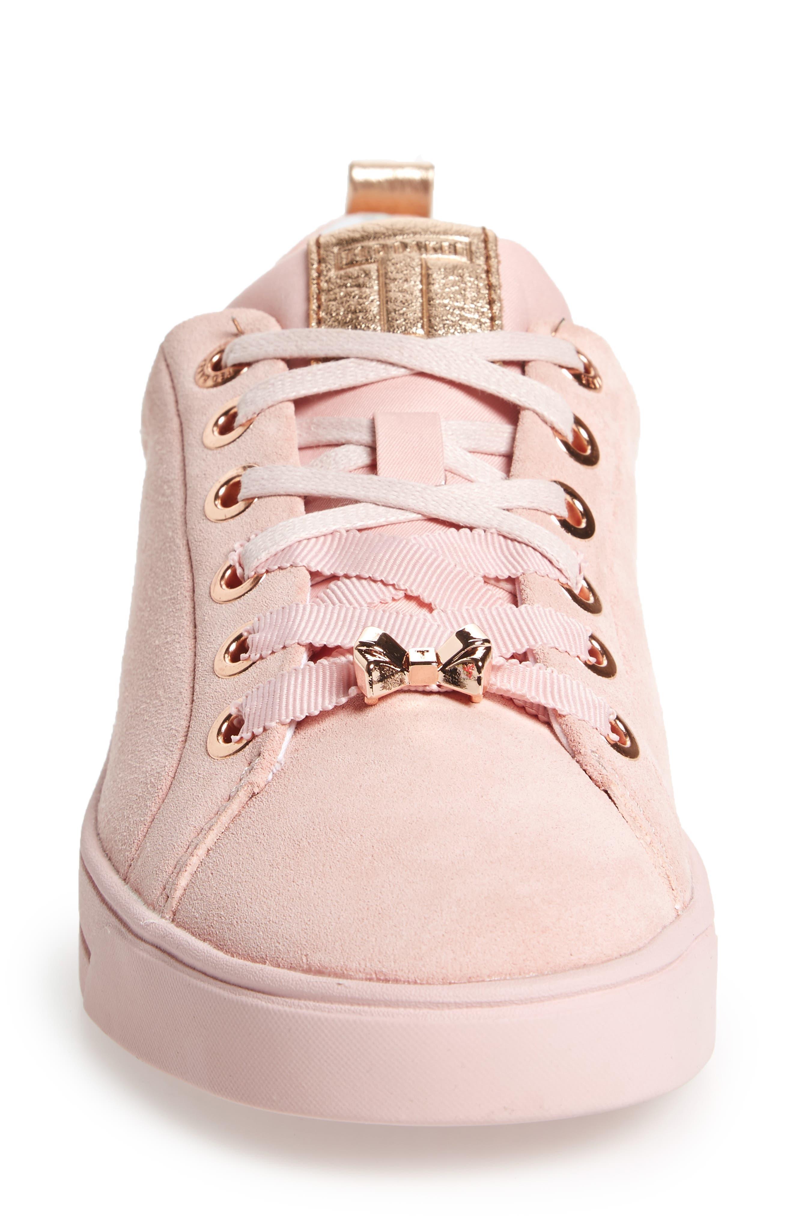 Kelleip Sneaker,                             Alternate thumbnail 4, color,                             Mink Pink Suede
