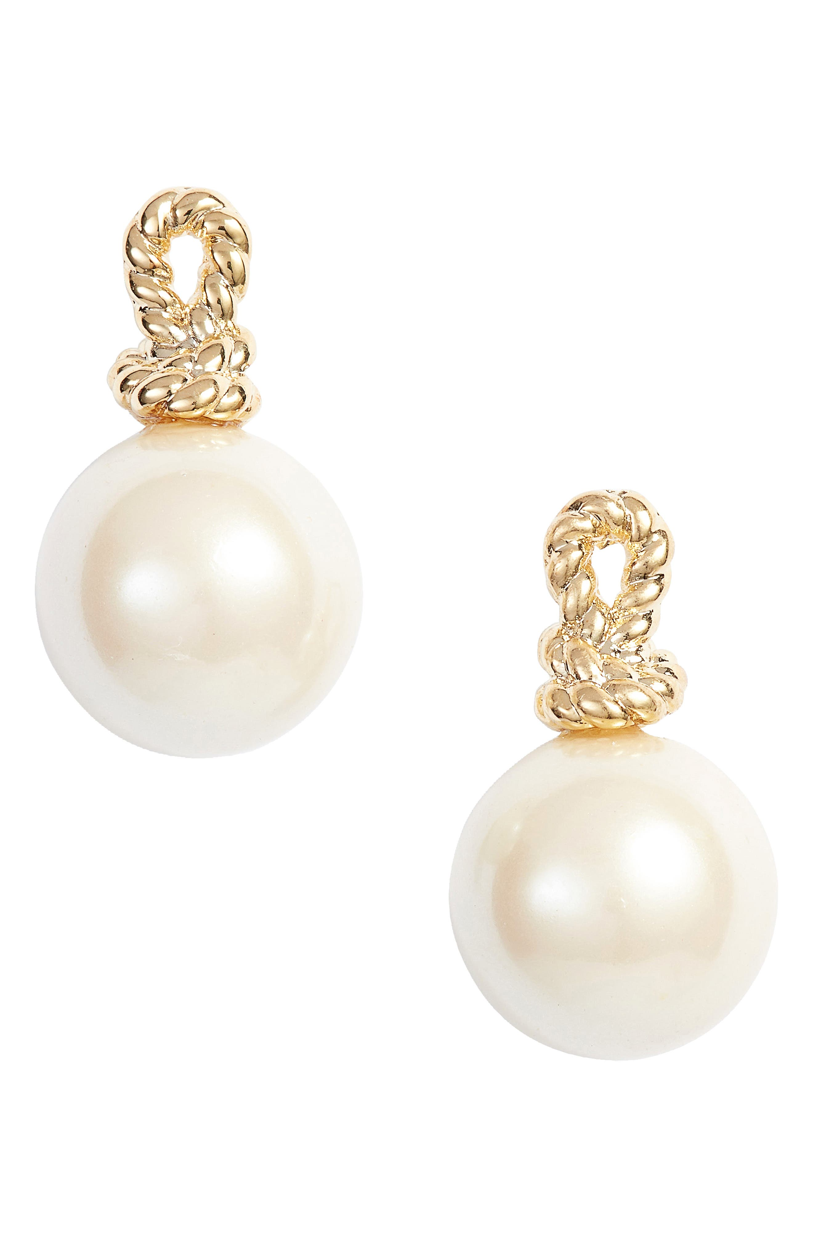 sailors knot drop stud earrings,                             Main thumbnail 1, color,                             Cream Multi