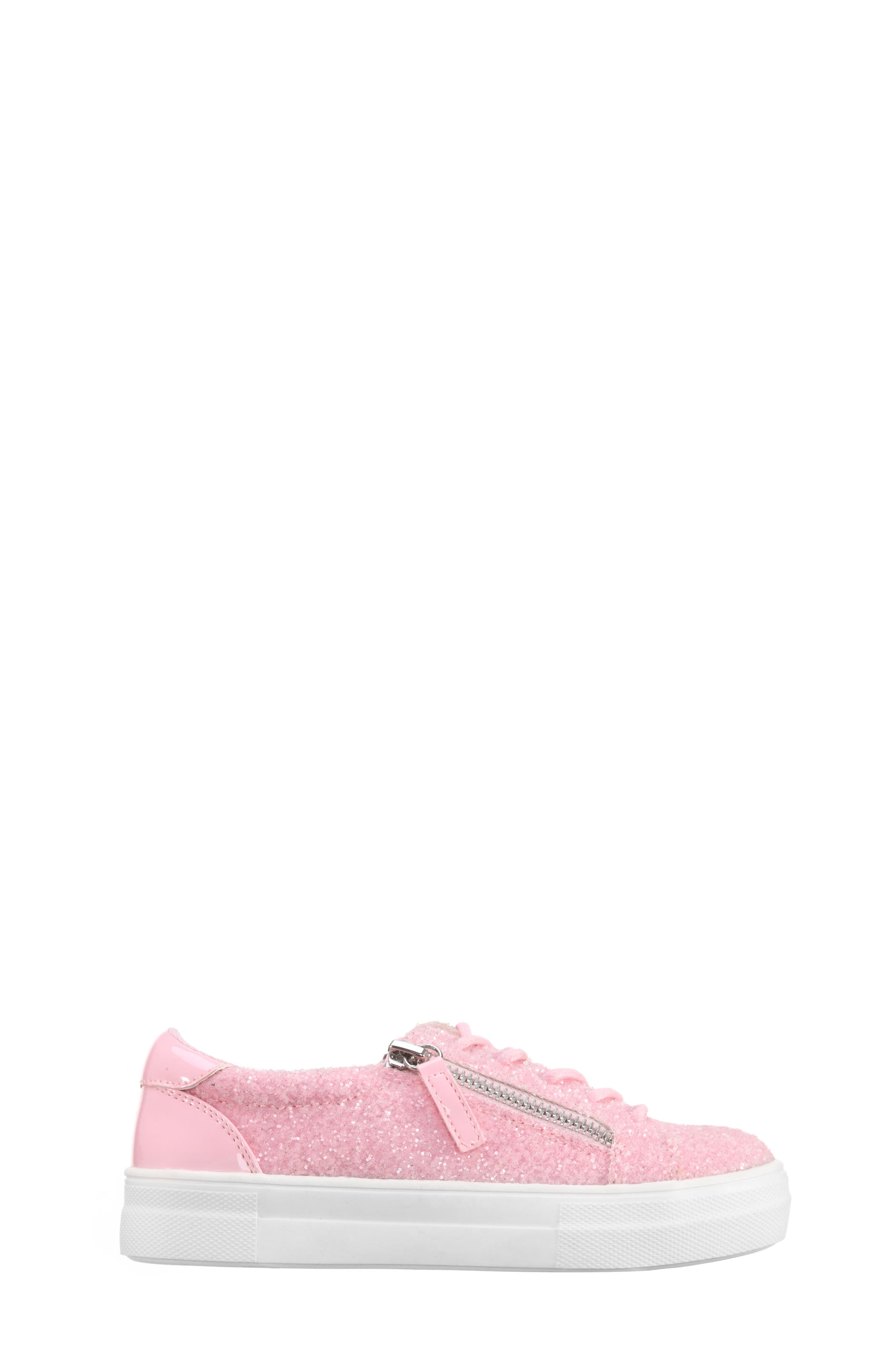 Jennalyn Glitter Sneaker,                             Alternate thumbnail 3, color,                             Light Pink Chunky Glitter