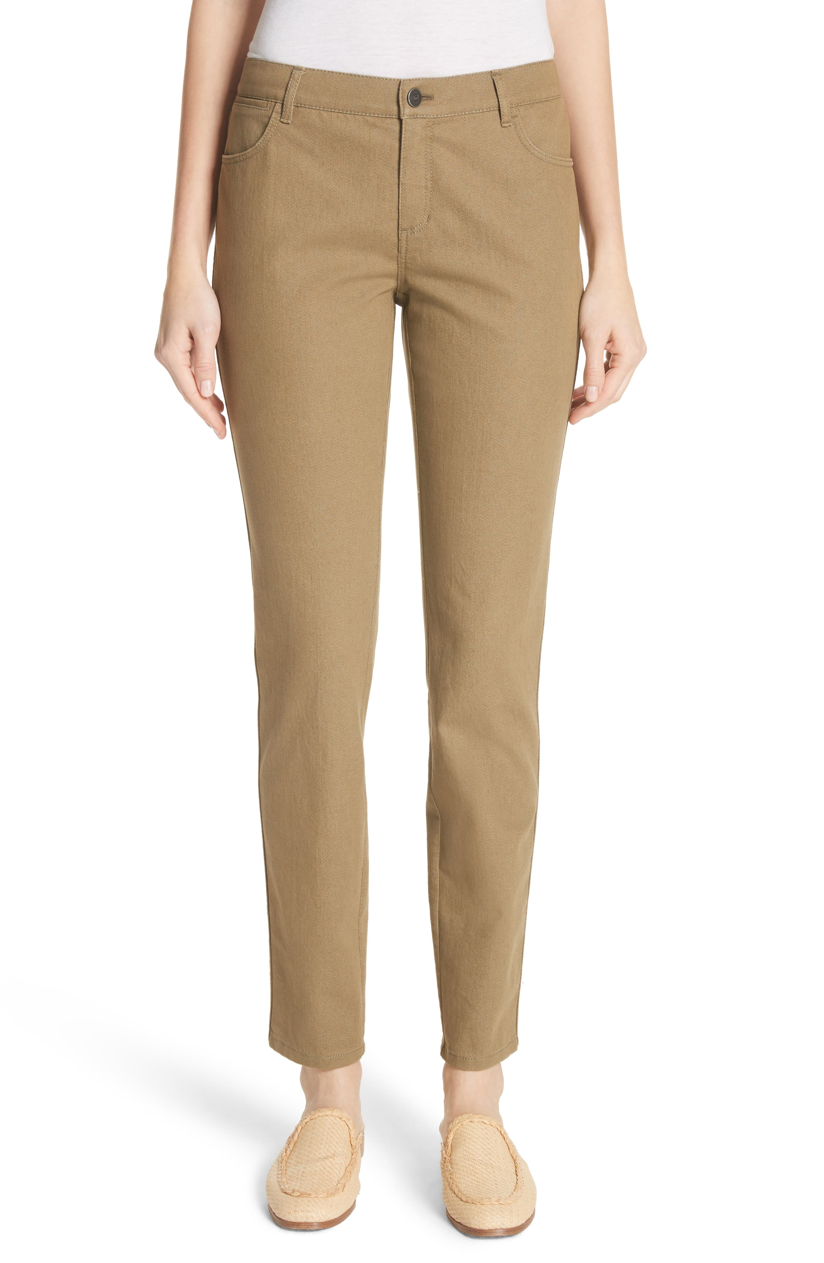 Lafayette 148 New York Mercer Skinny Jeans (Lily Pad)