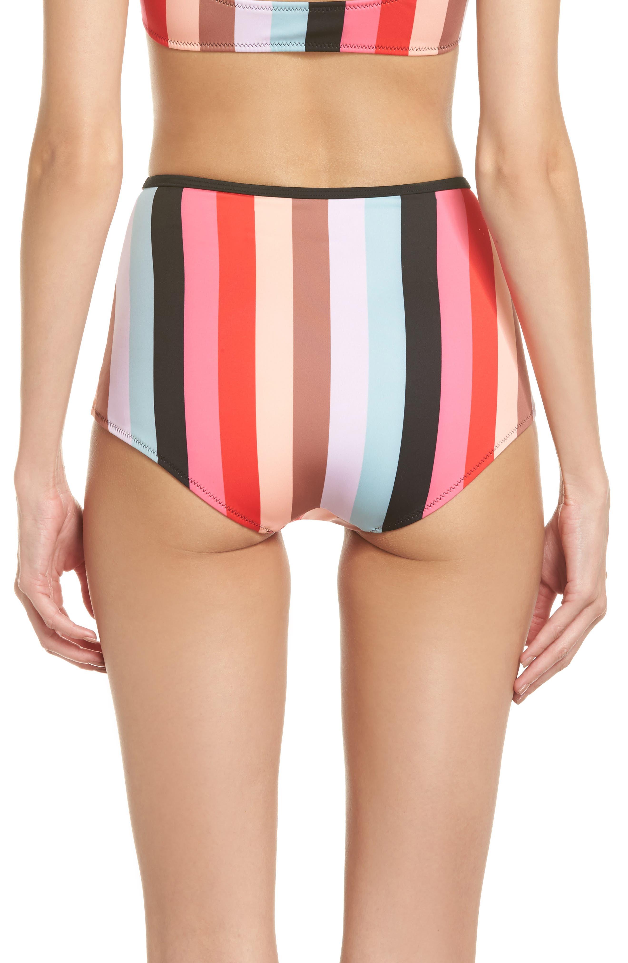 The Brigitte Bikini Bottoms,                             Alternate thumbnail 2, color,                             Red Multi