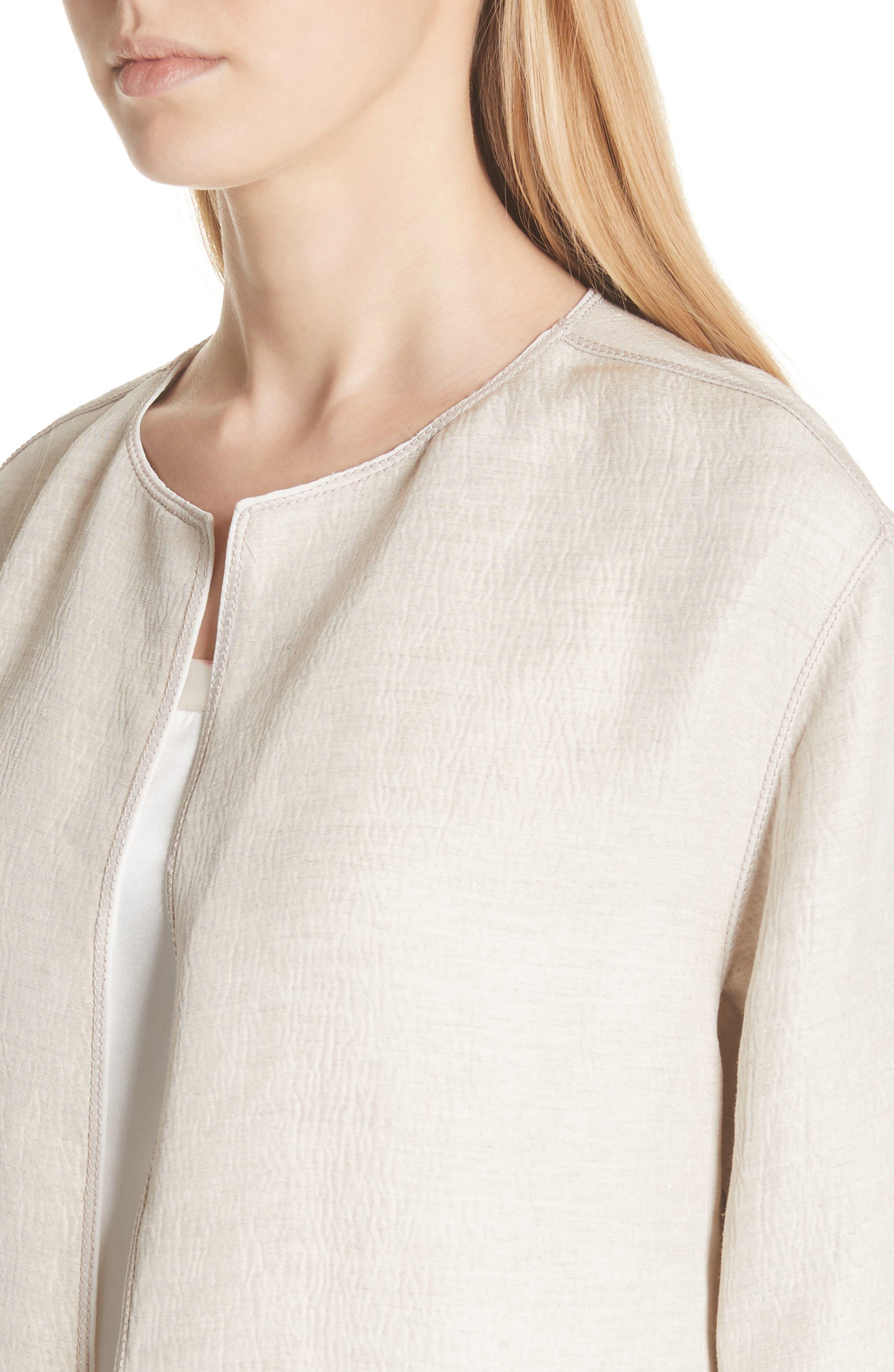 Milo Textured Jacket,                             Alternate thumbnail 4, color,                             Khaki Multi
