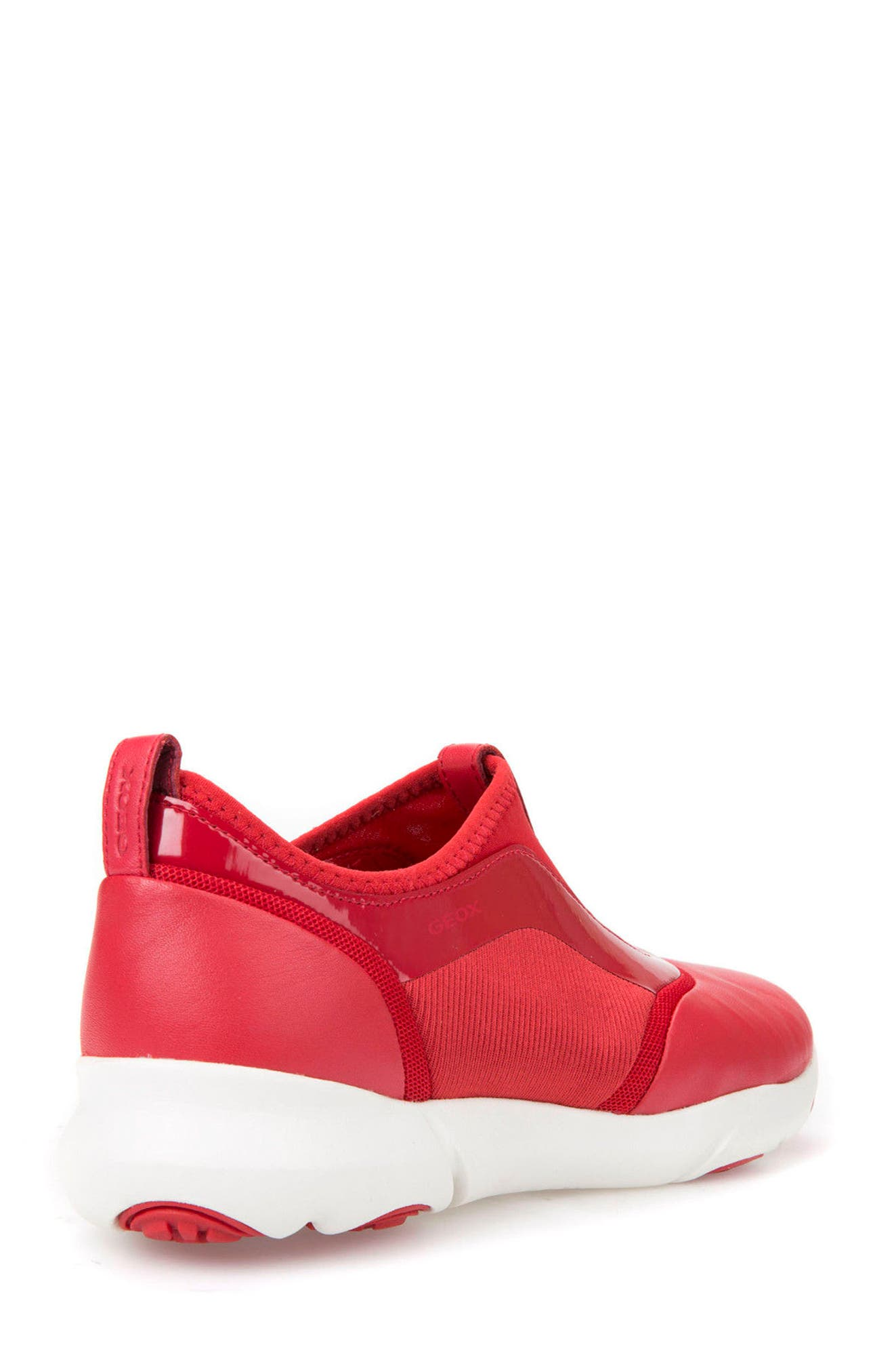 Nebula S Slip-On Sneaker,                             Alternate thumbnail 2, color,                             Red Leather