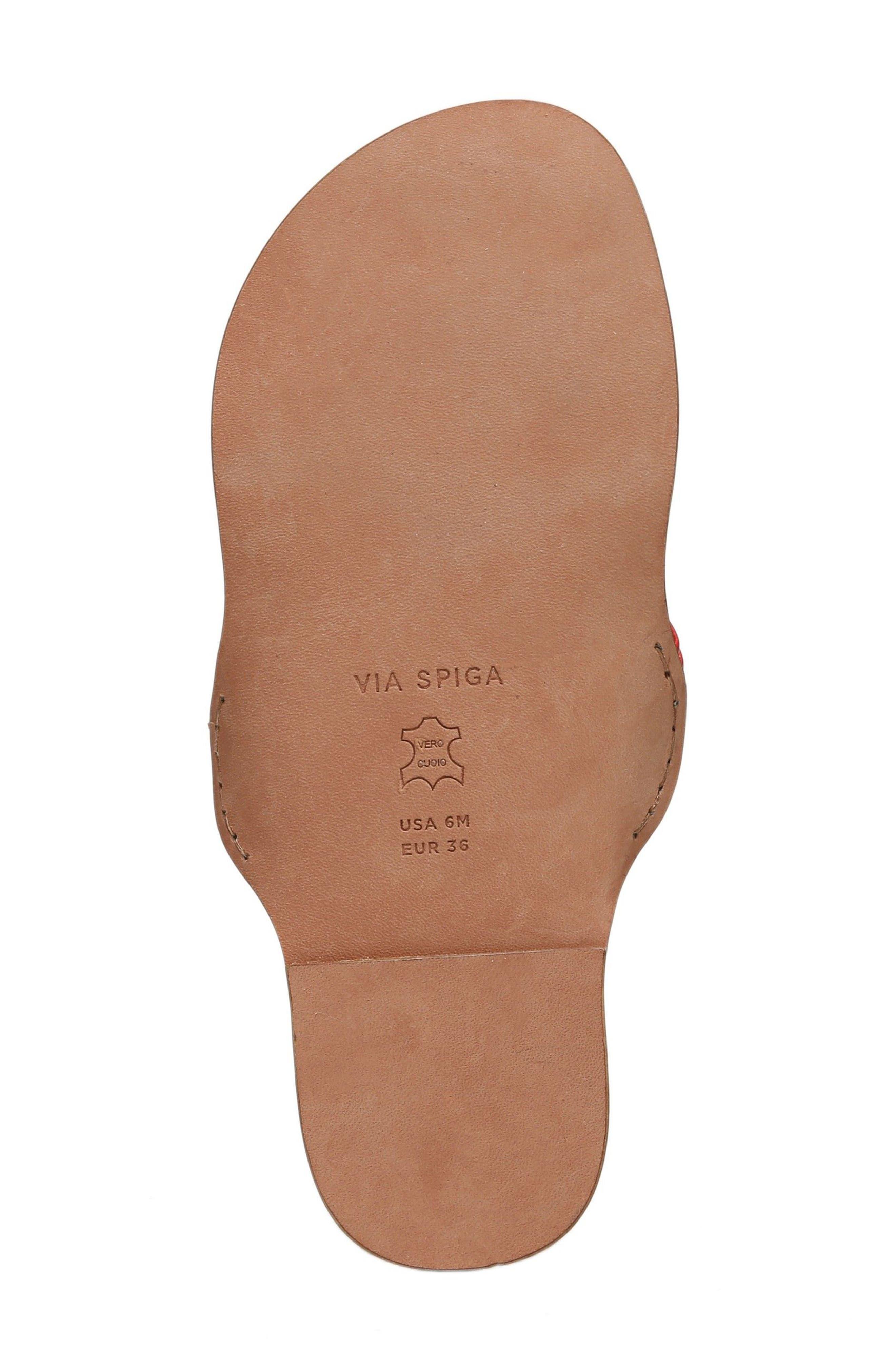 Allegra Sandal,                             Alternate thumbnail 6, color,                             Poppy Red Leather