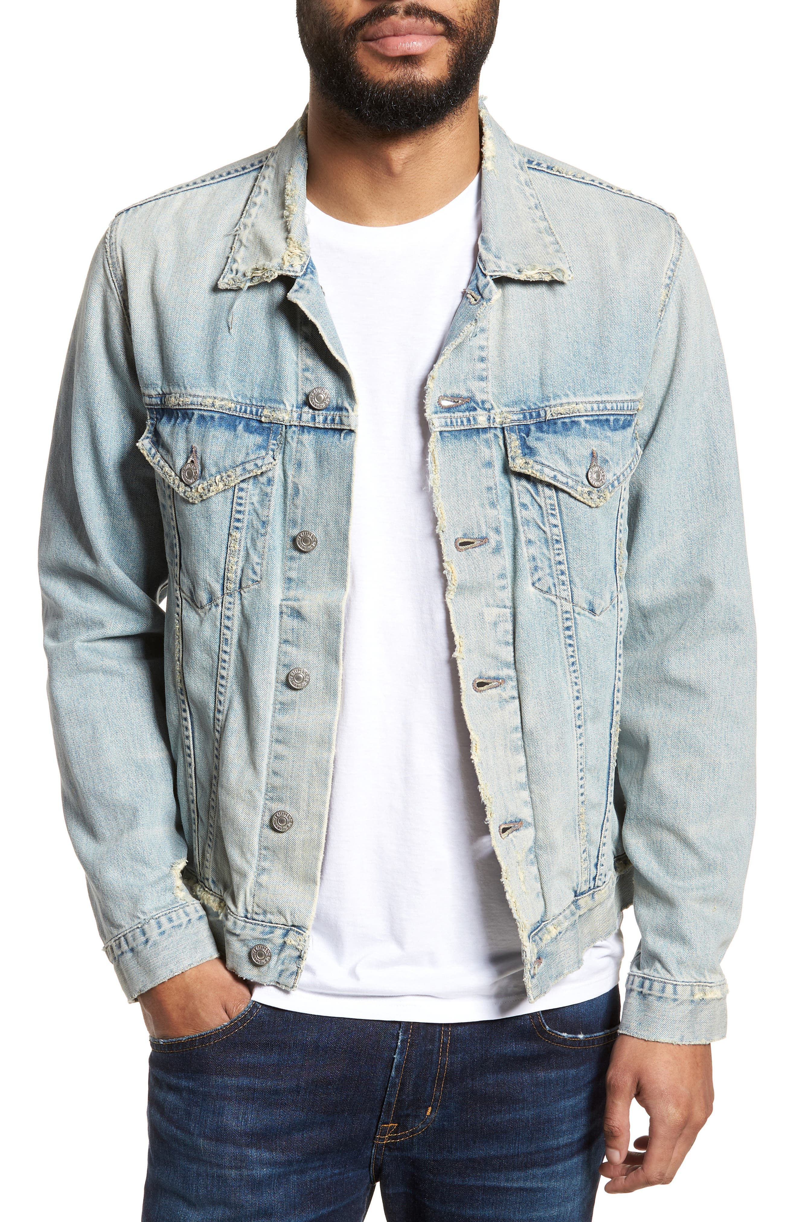 Denim Jacket,                         Main,                         color, Silver City