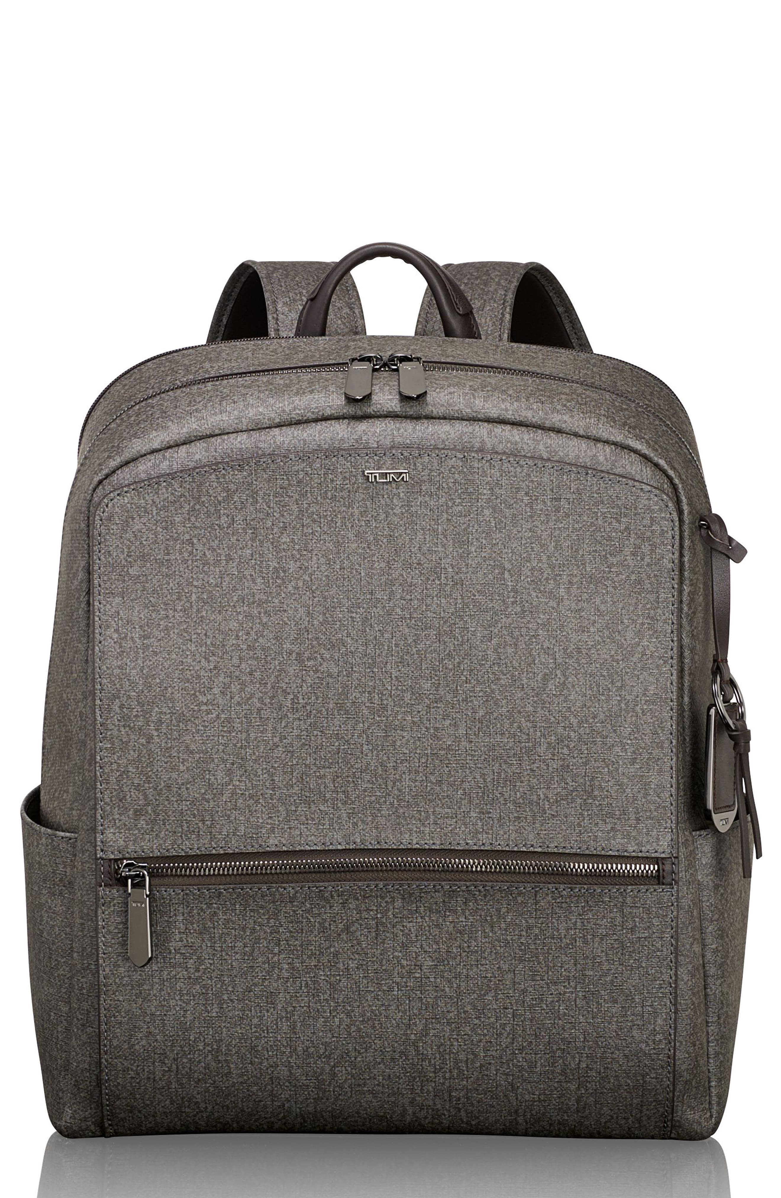 Stanton Becca Coated Canvas Backpack,                         Main,                         color, Earl Grey