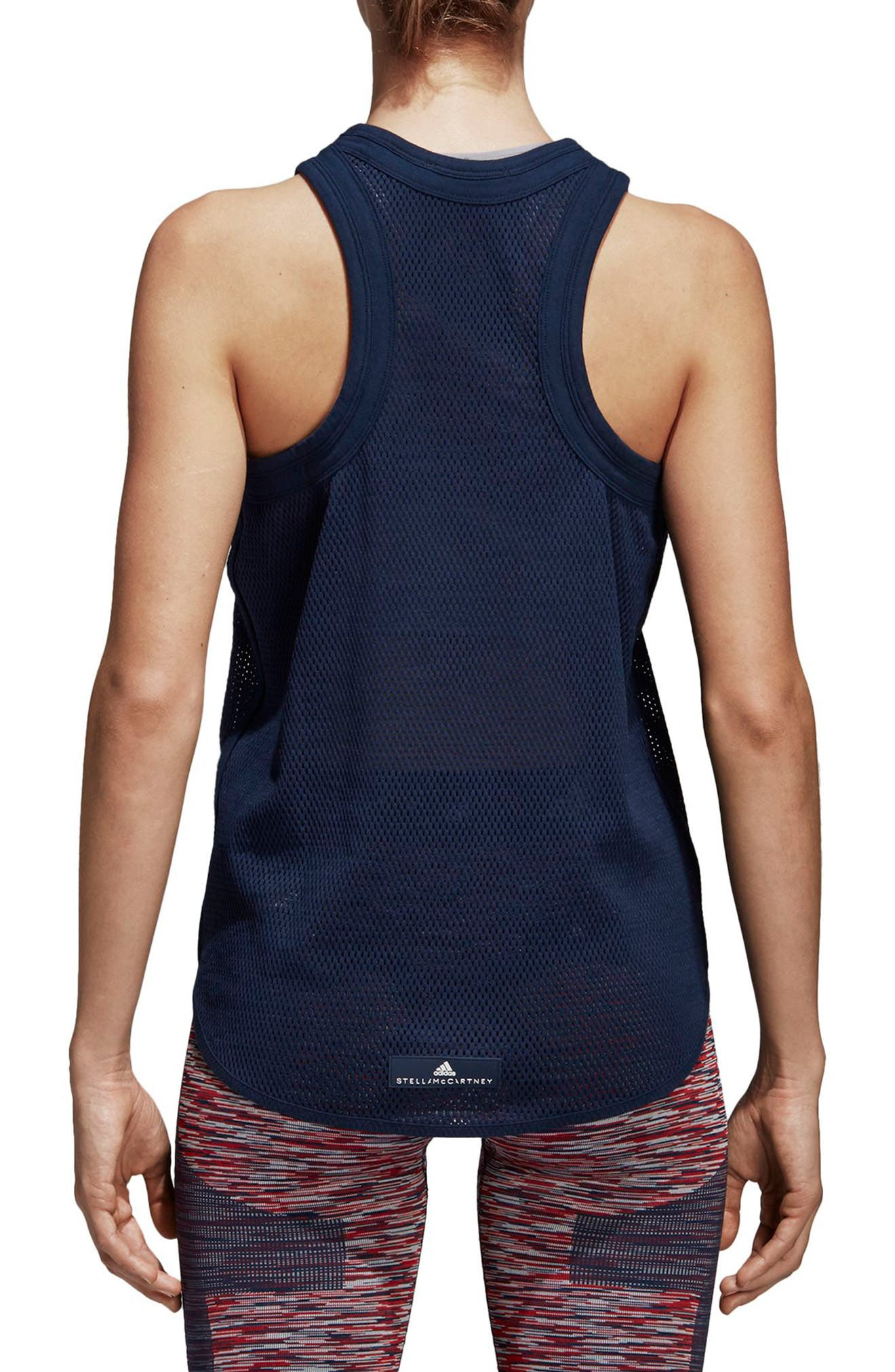 Yoga Mesh Tank,                             Alternate thumbnail 2, color,                             Collegiate Navy