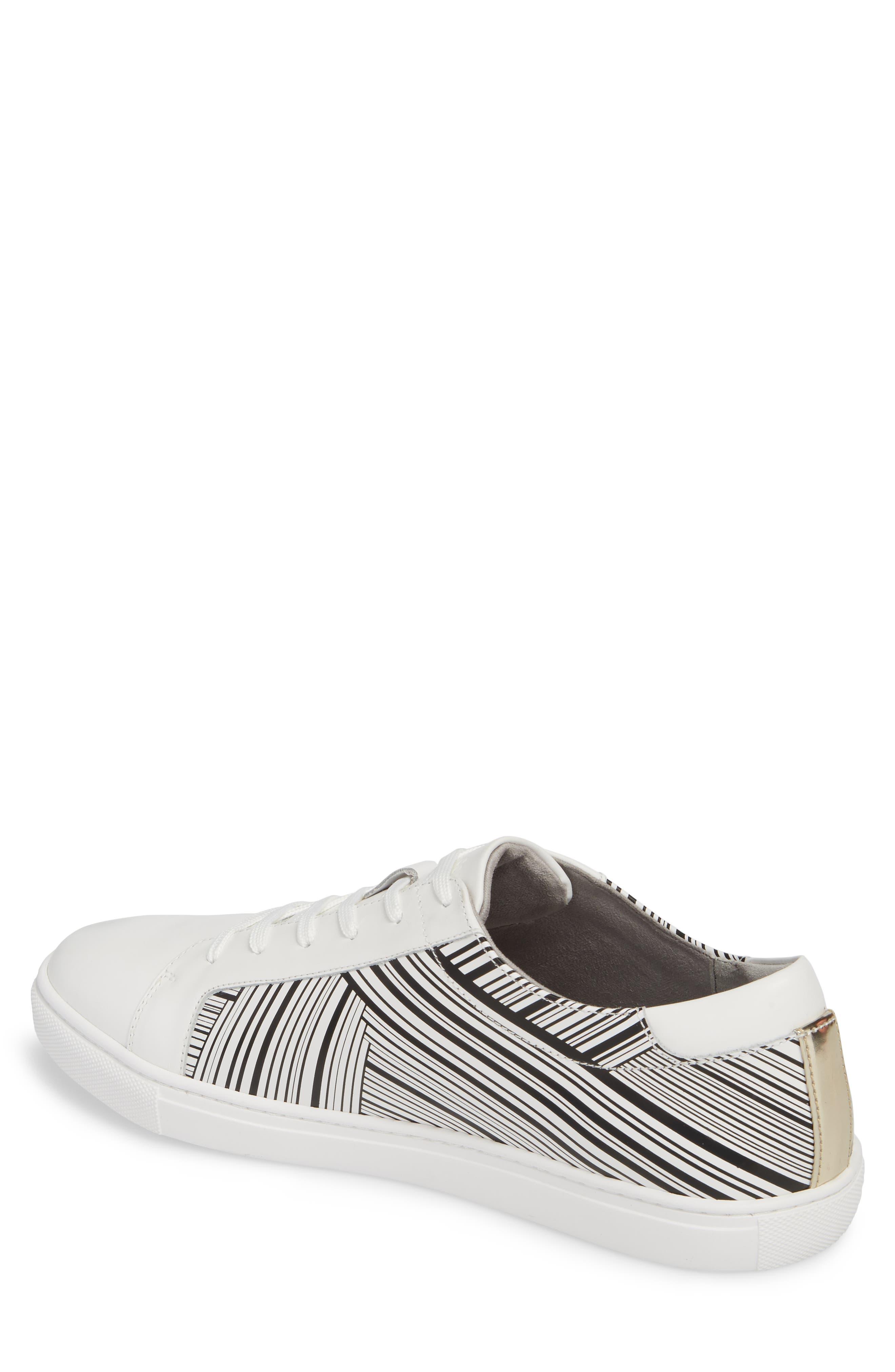 Kam Sneaker,                             Alternate thumbnail 2, color,                             White/ Black Leather
