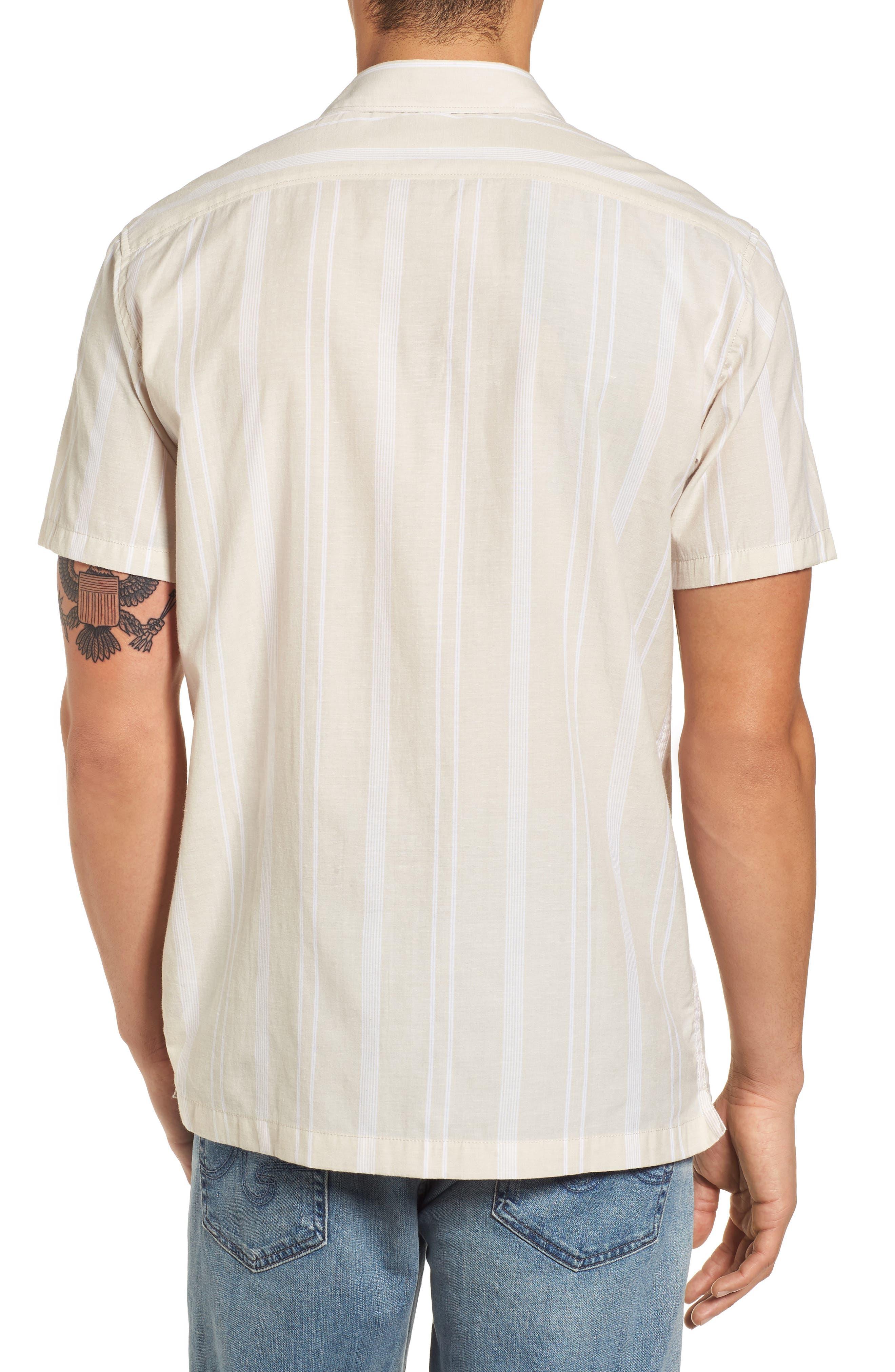 Donny Short Sleeve Shirt,                             Alternate thumbnail 3, color,                             Sand