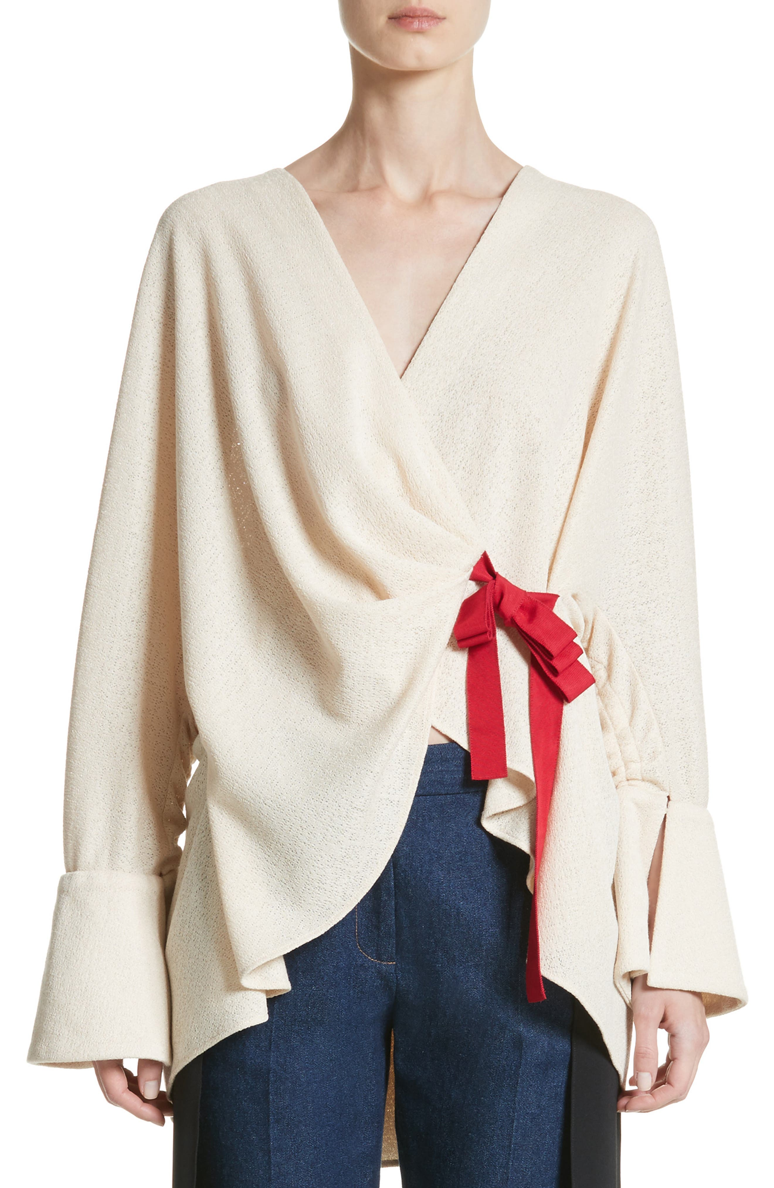 Hellessy Datura Belted Cinch Back Wrap Top