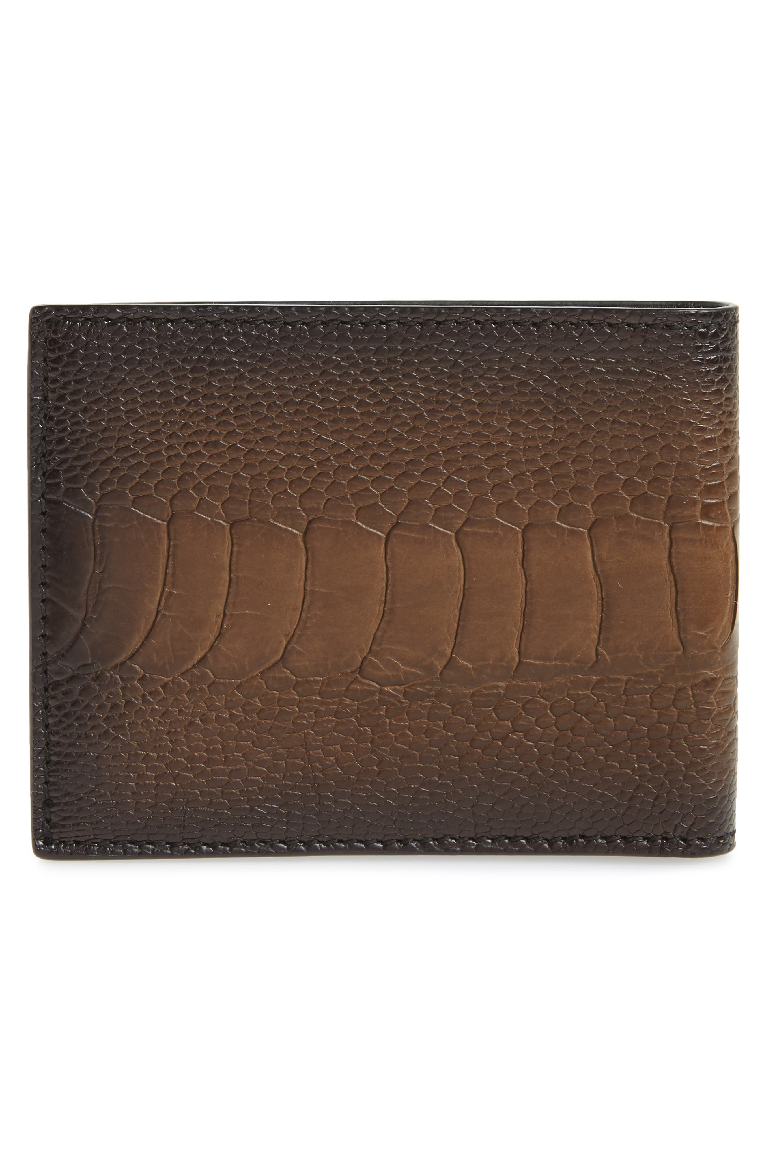 Leather Wallet,                             Alternate thumbnail 3, color,                             Sepia
