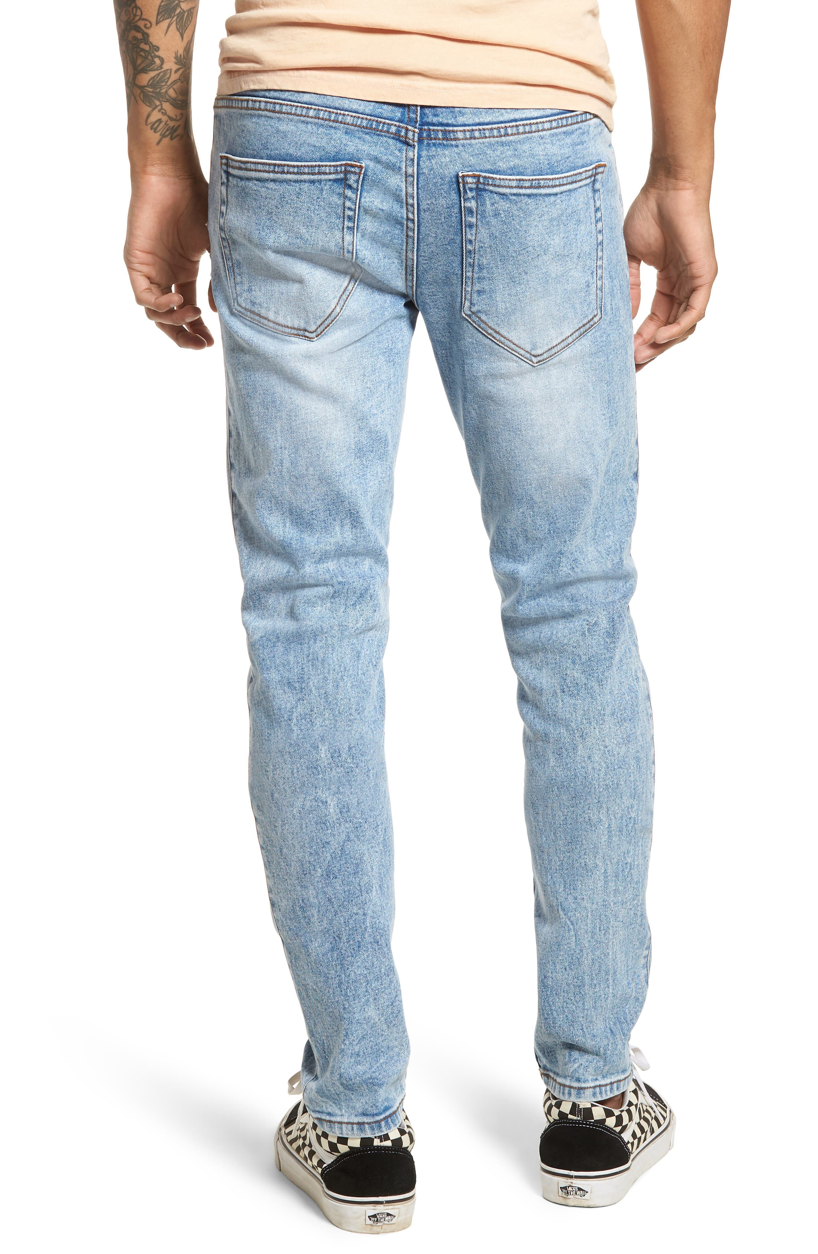 Clark Slim Straight Leg Jeans,                             Alternate thumbnail 2, color,                             Foggy Blue