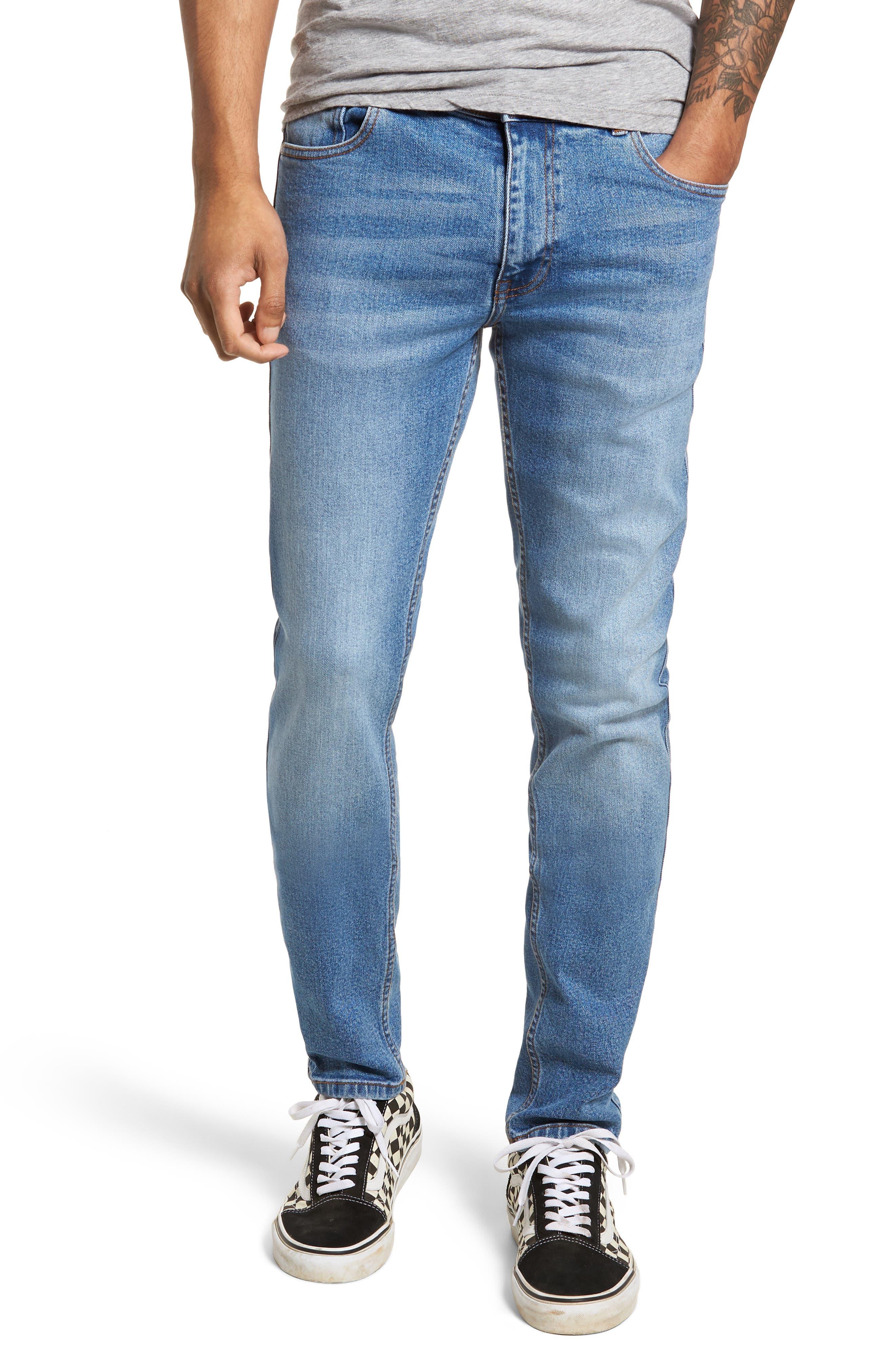 Clark Slim Straight Leg Jeans,                             Main thumbnail 1, color,                             Shaded Mid Blue