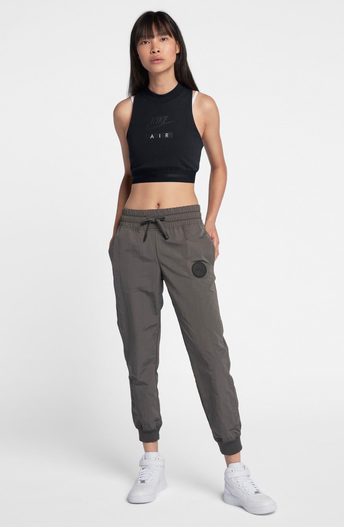 Sportswear Air Women's Crop Top,                             Alternate thumbnail 4, color,                             Black/ Black/ Black