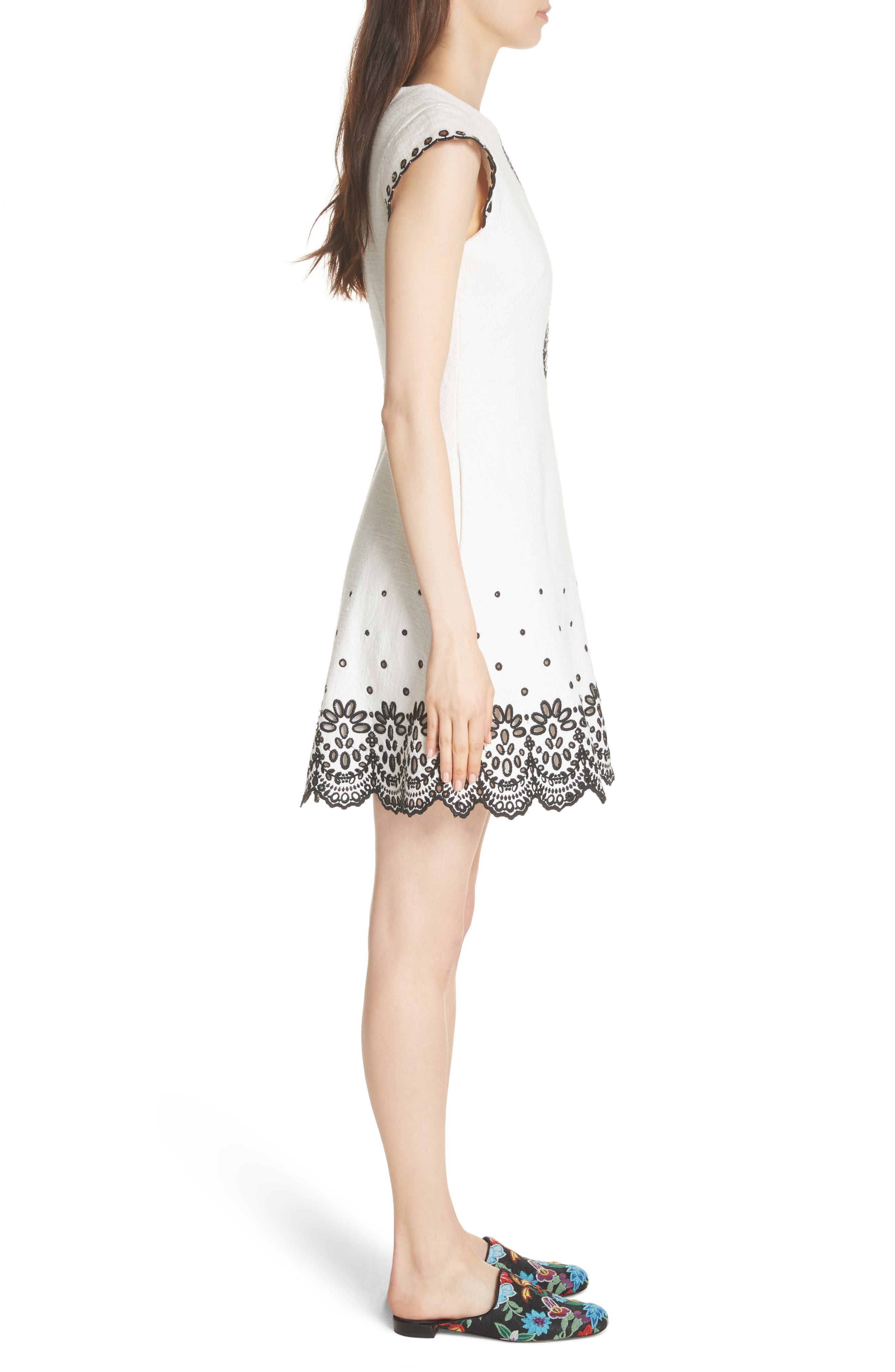 Alternate Image 3  - kate spade new york ria laser cut embroidered A-line dress