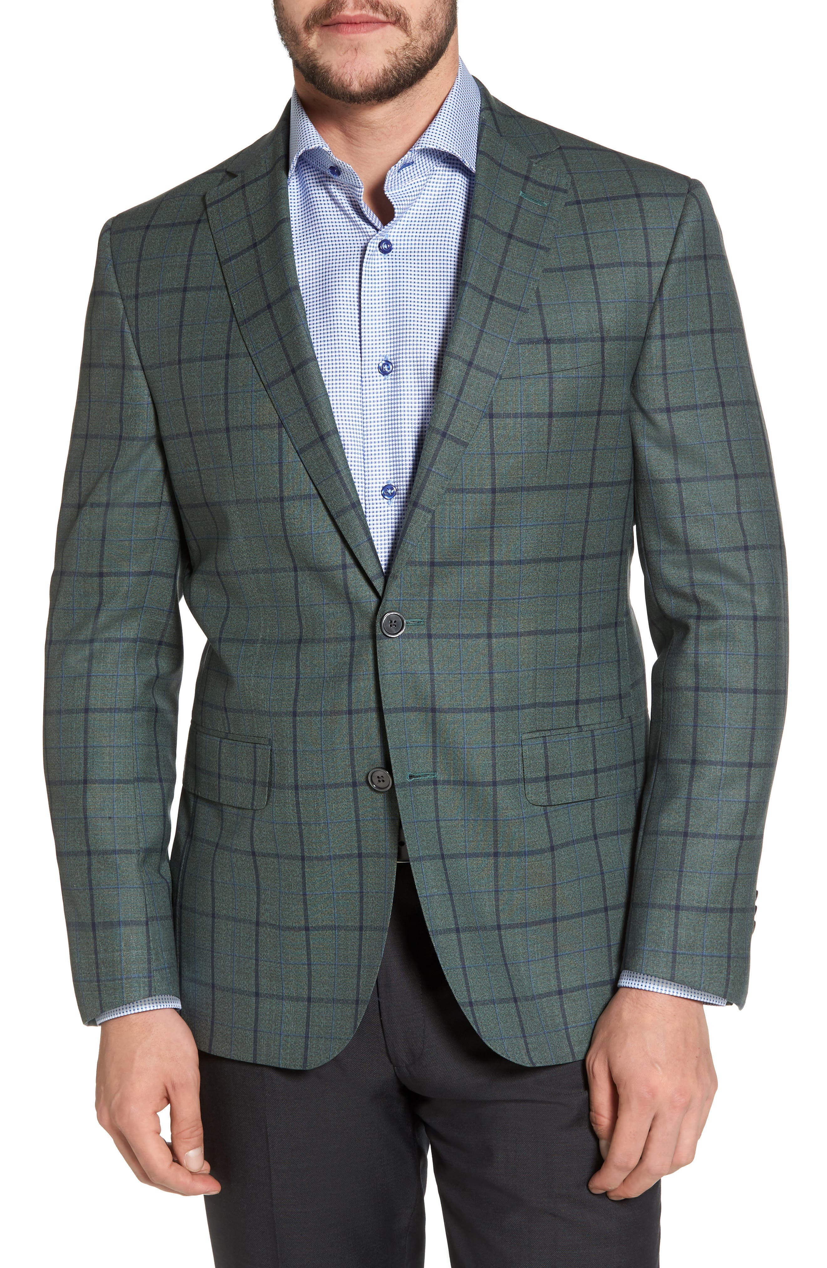Connor Classic Fit Sport Coat,                         Main,                         color, Green