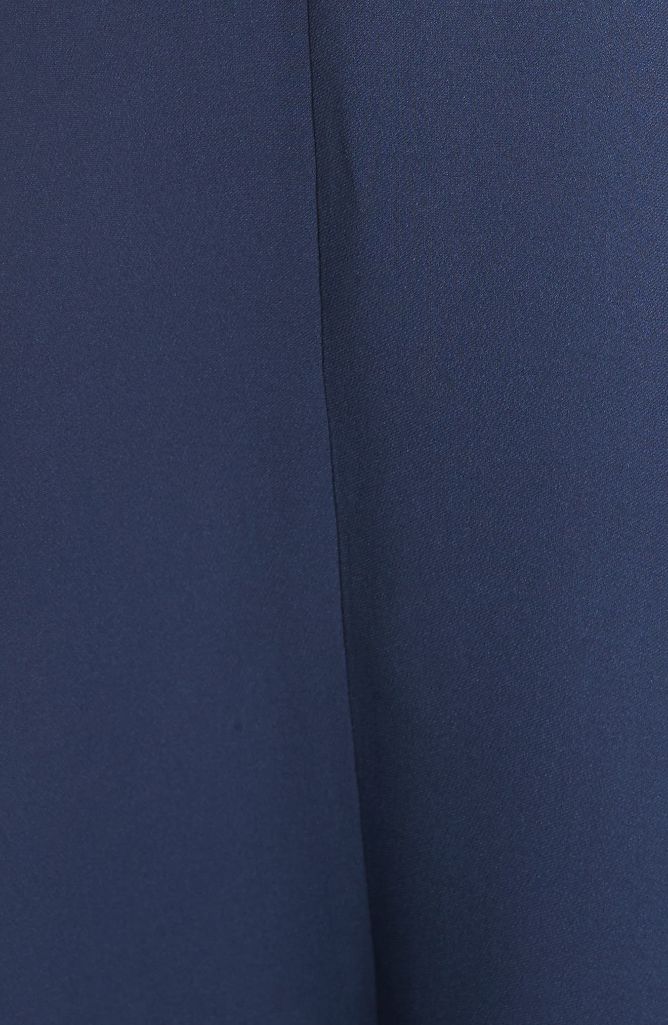 Carson Silk Skirt,                             Alternate thumbnail 5, color,                             Squid Ink
