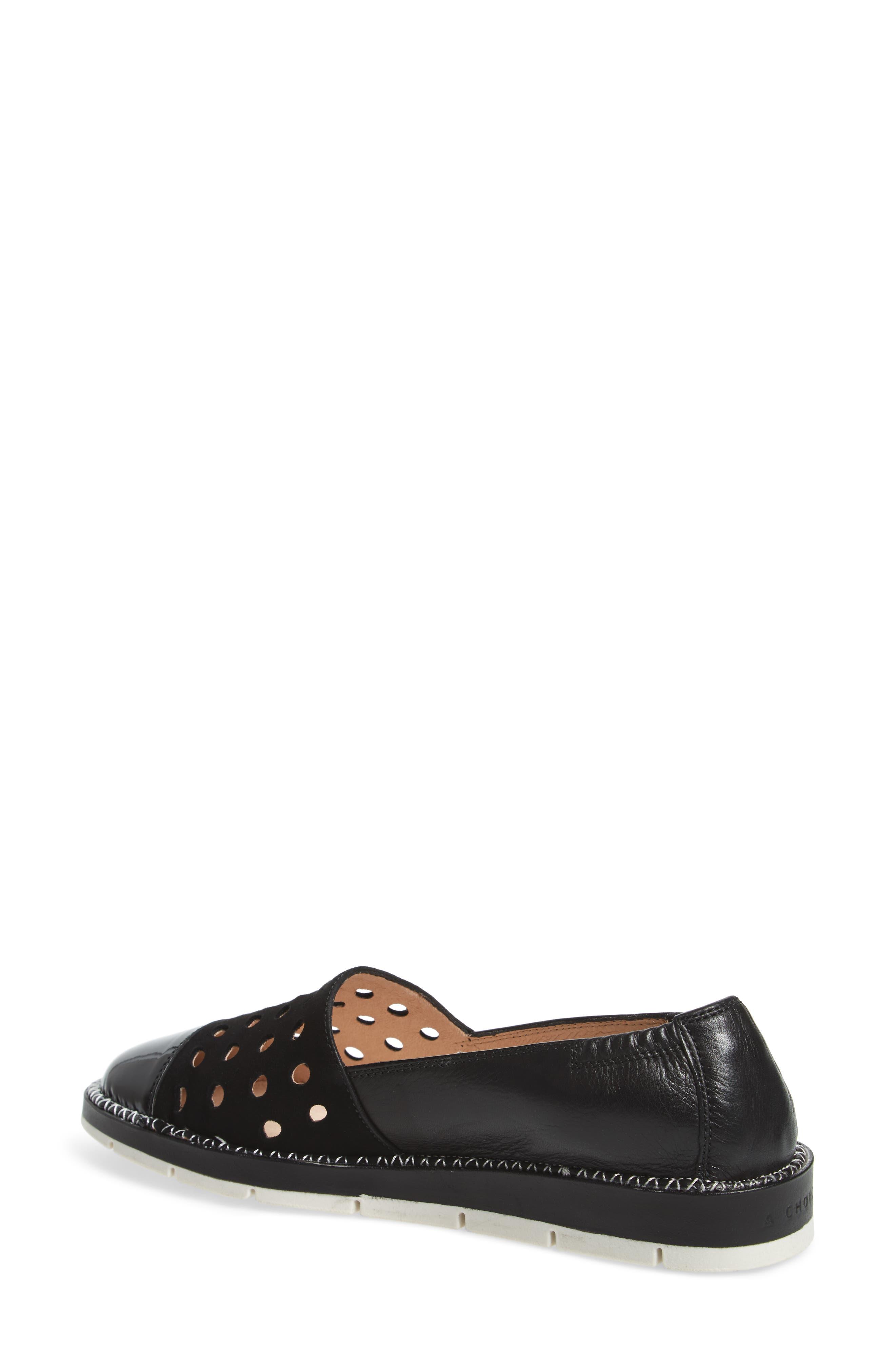 Maiko Flat,                             Alternate thumbnail 2, color,                             Kaffir Black Leather