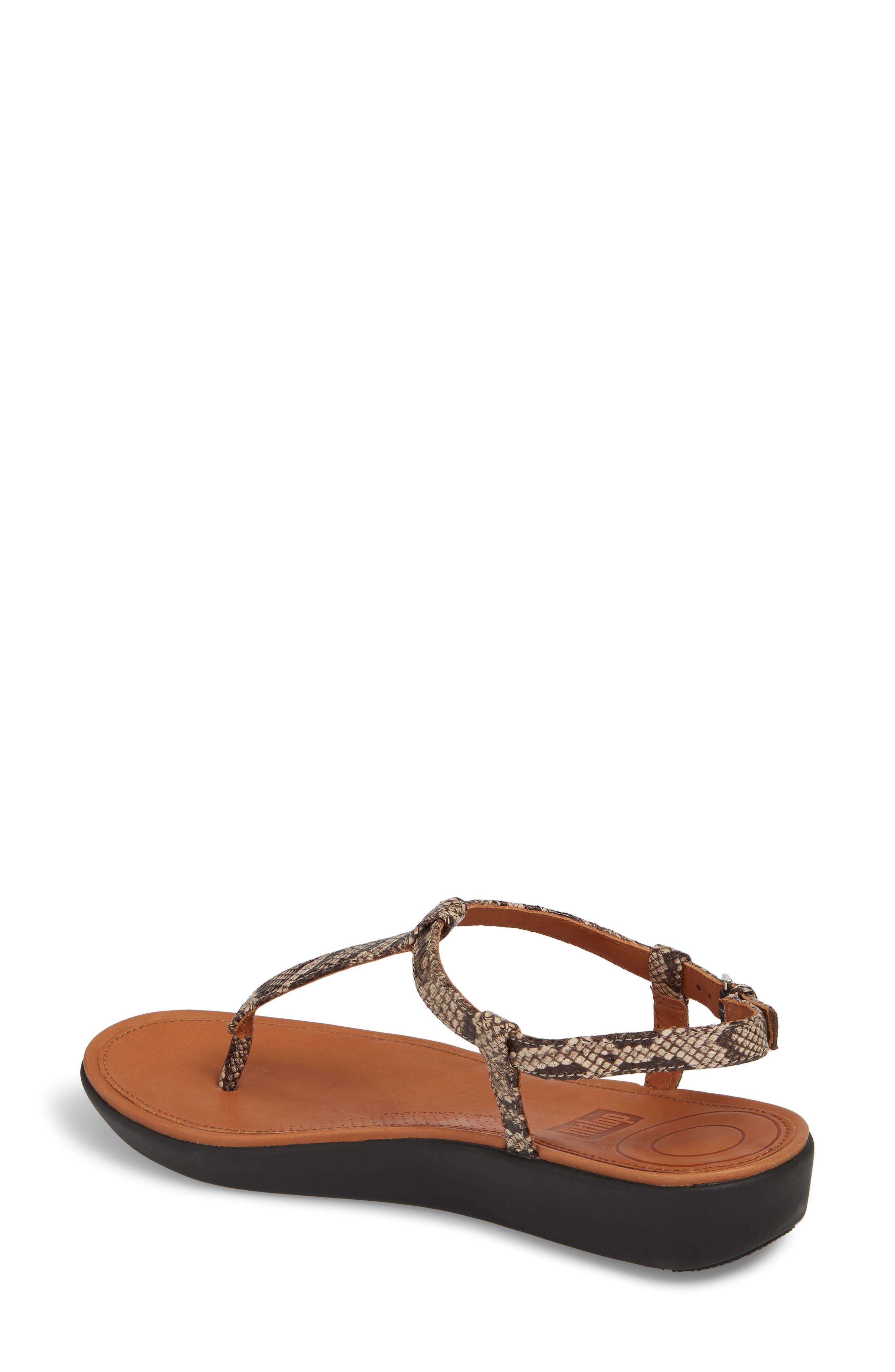 Tia Sandal,                             Alternate thumbnail 2, color,                             Taupe Snake Leather