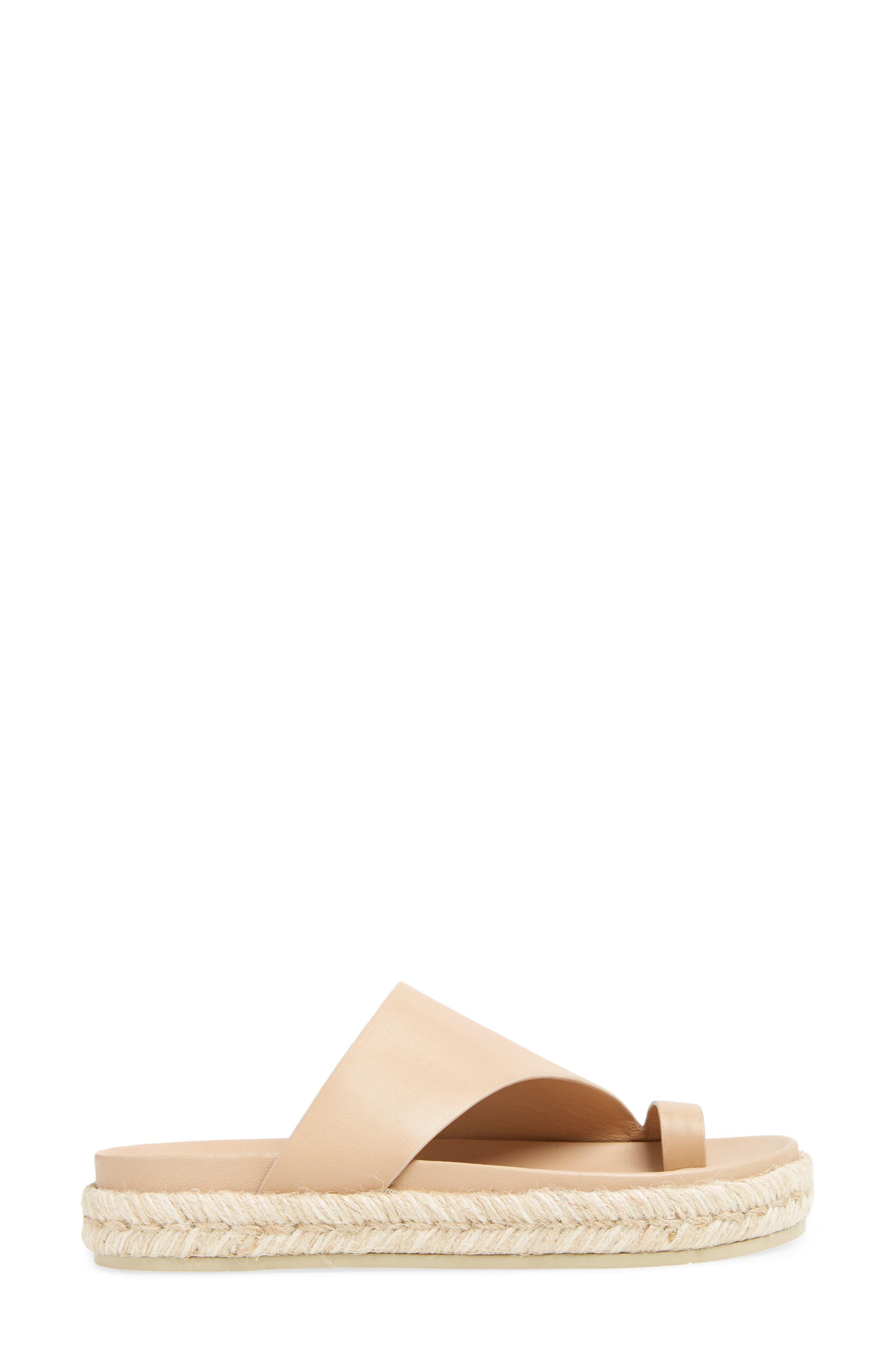 Espadrille Toe Loop Sandal,                             Alternate thumbnail 3, color,                             Lt Latte