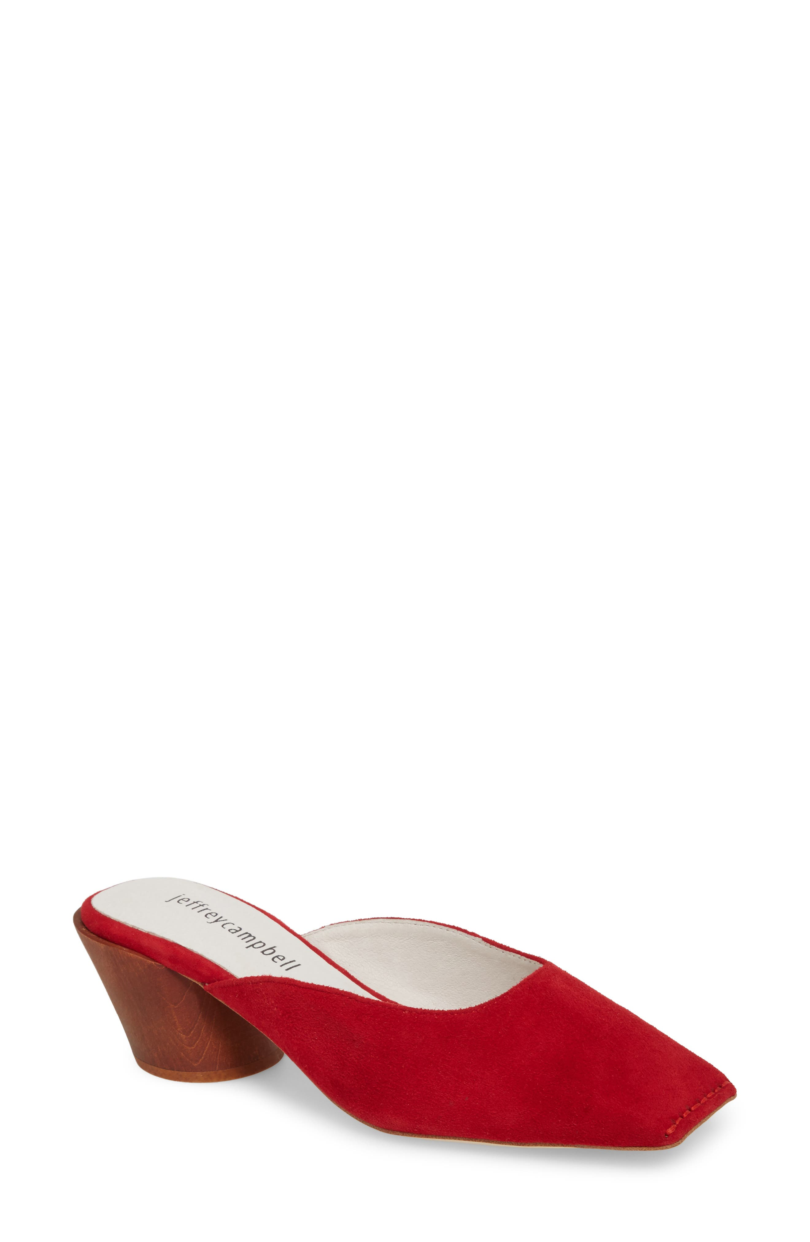 Lakme Mule,                         Main,                         color, Red Suede