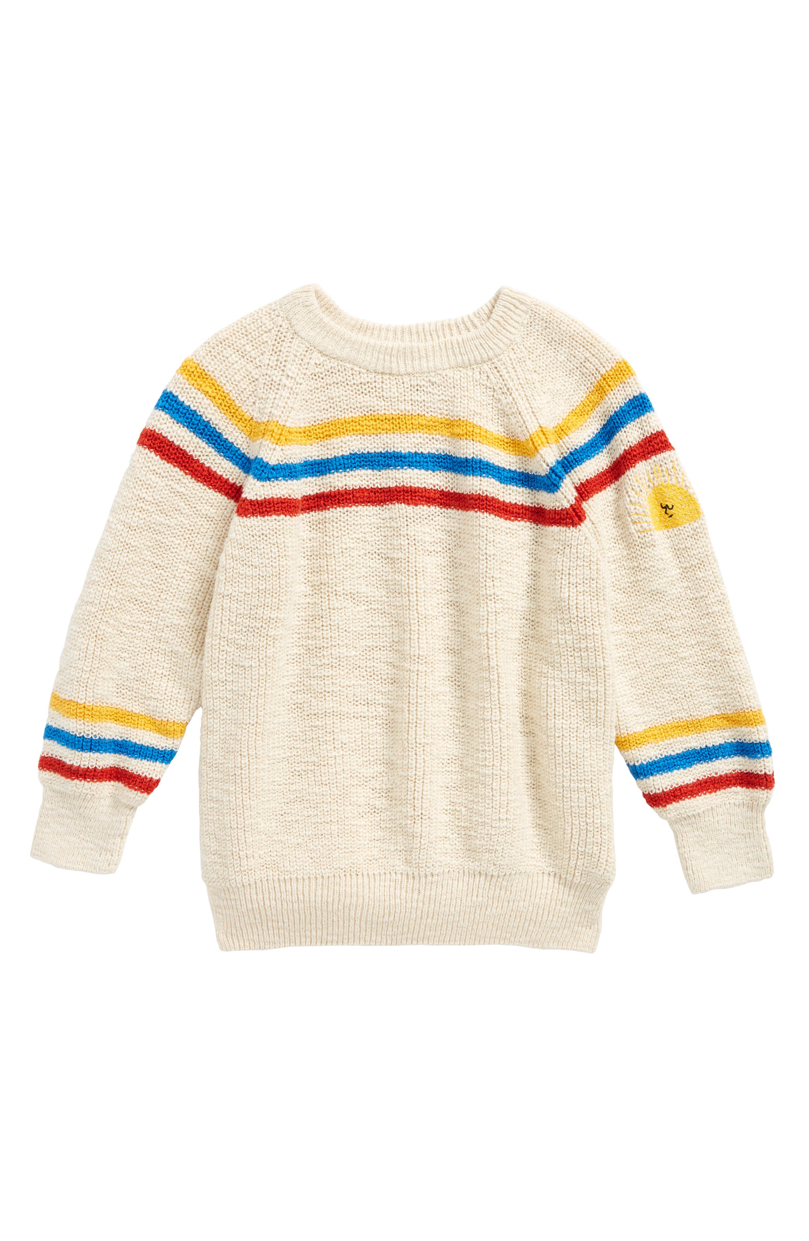 Stripe Sweater,                             Main thumbnail 1, color,                             Buttercream