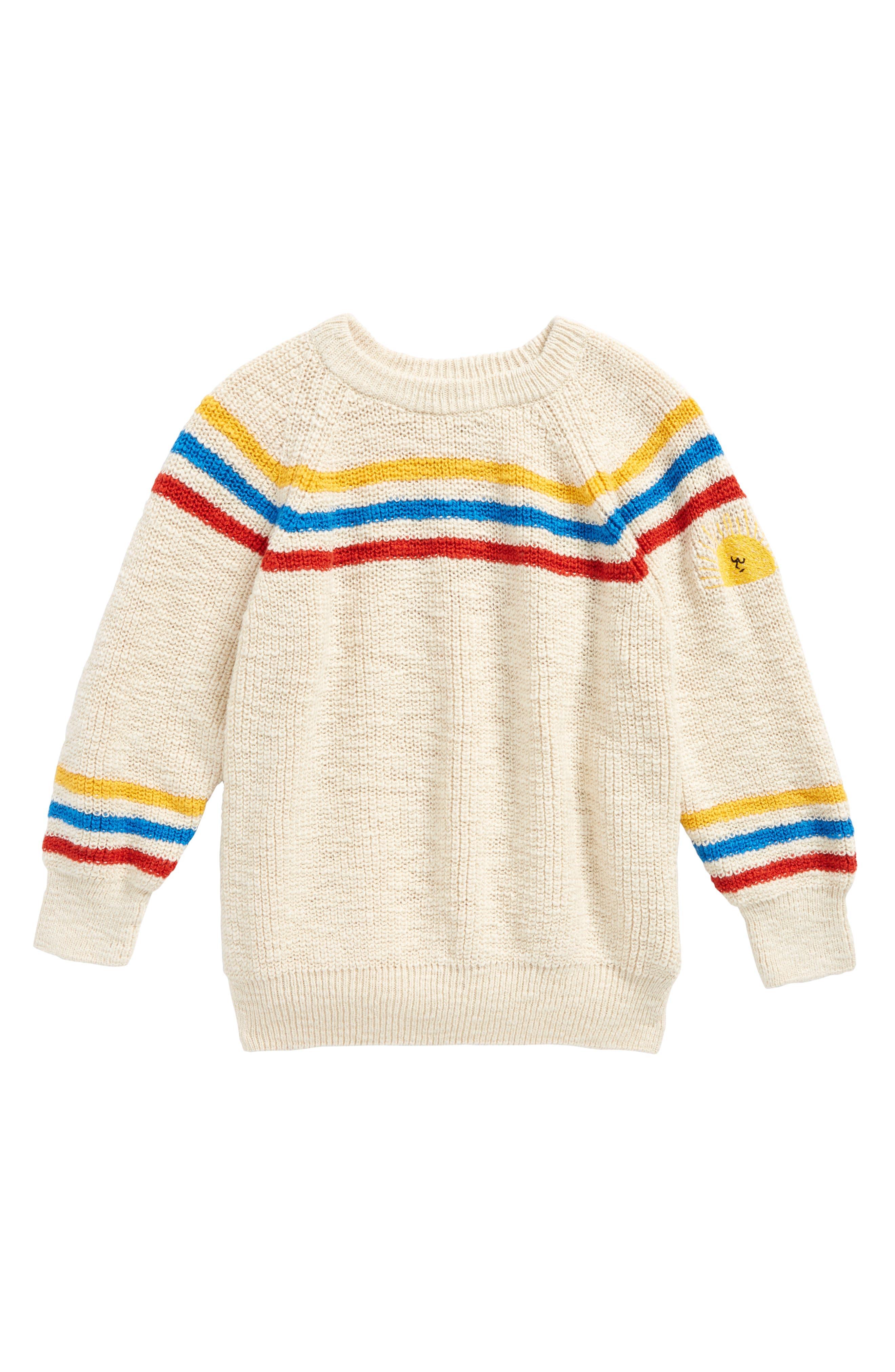 Stripe Sweater,                         Main,                         color, Buttercream