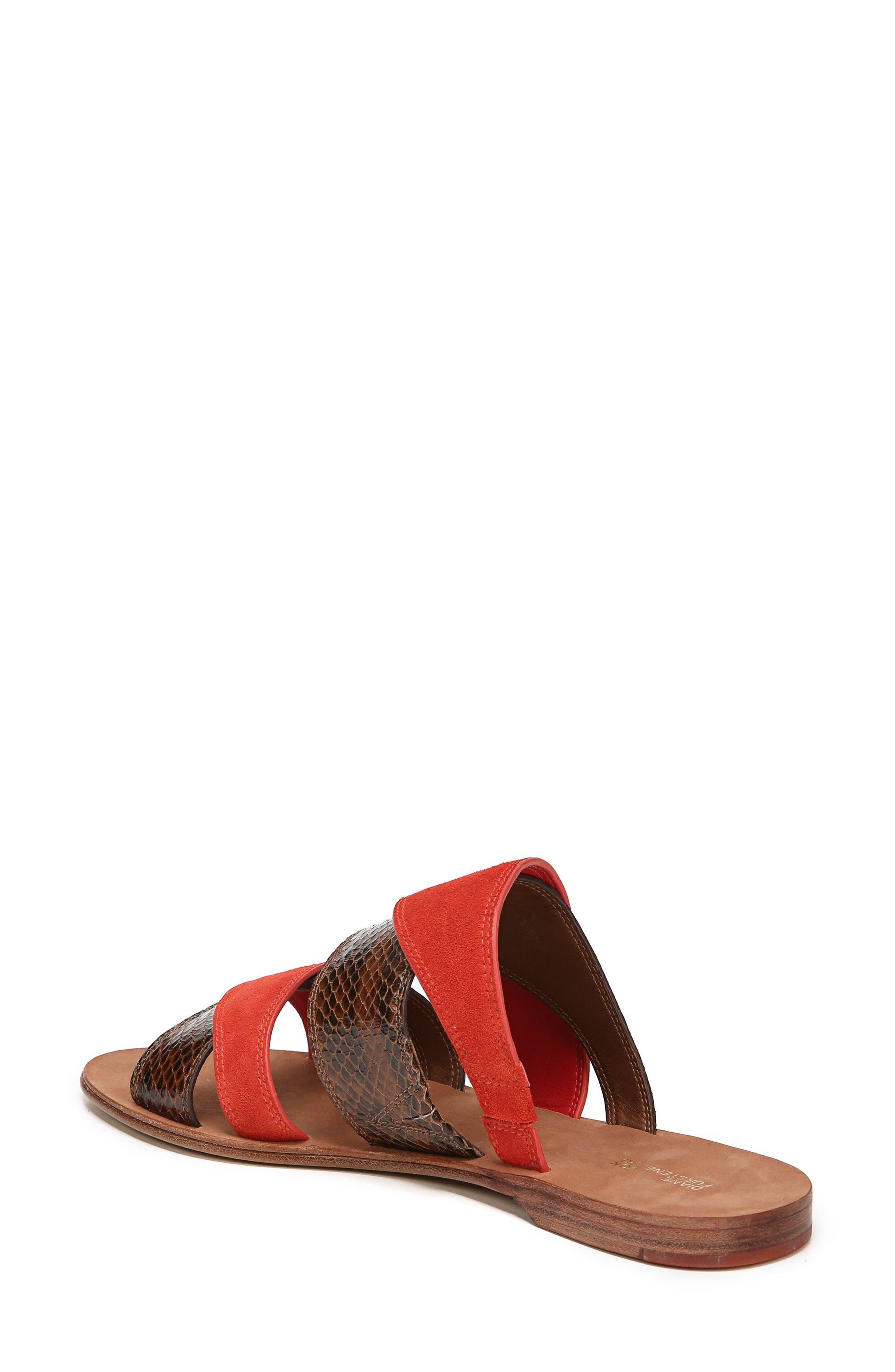 Blake Cross Strap Slide Sandal,                             Alternate thumbnail 2, color,                             Caramel/ Red