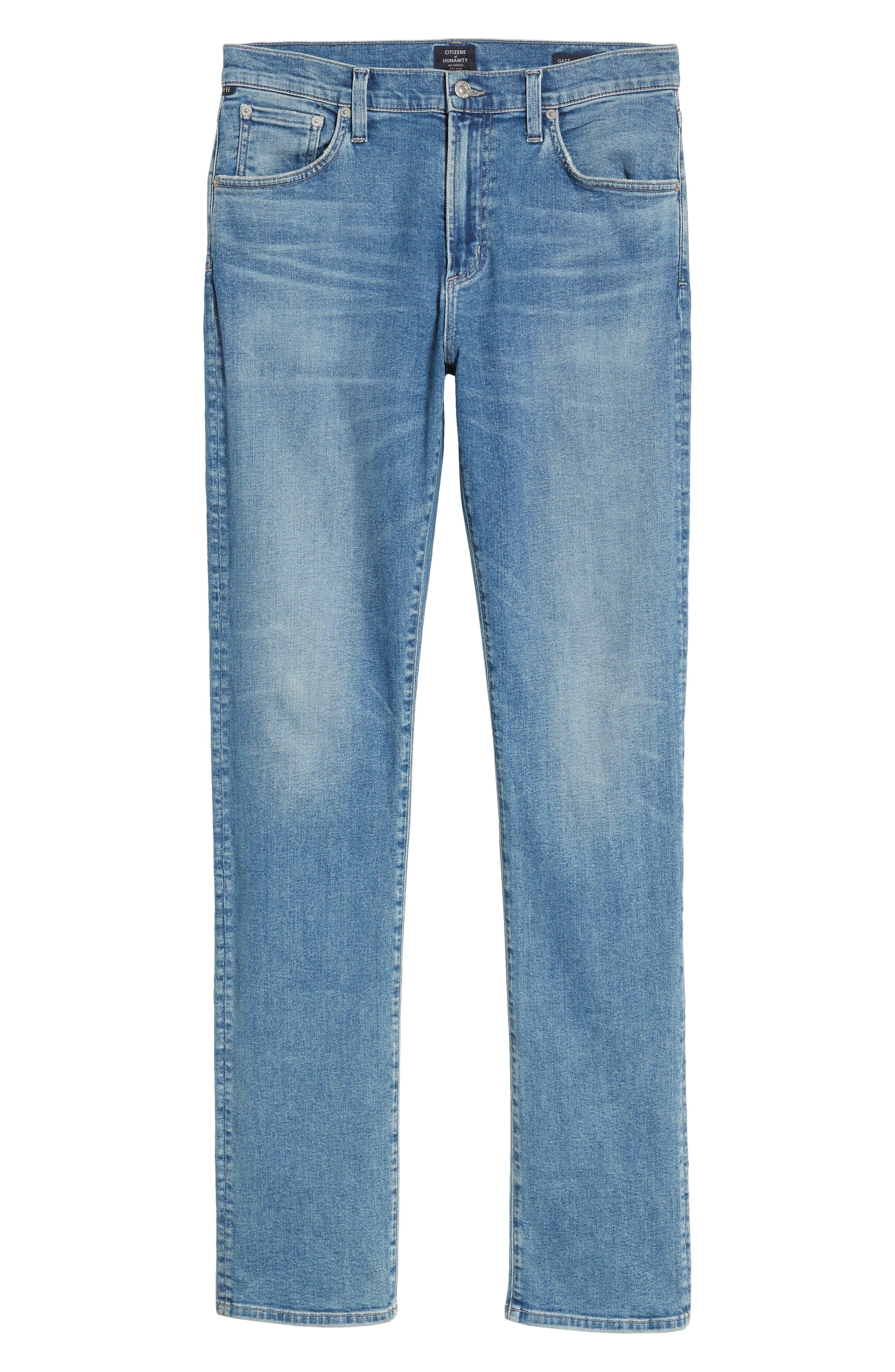 Gage Slim Straight Leg Jeans,                             Alternate thumbnail 6, color,                             Hemingway