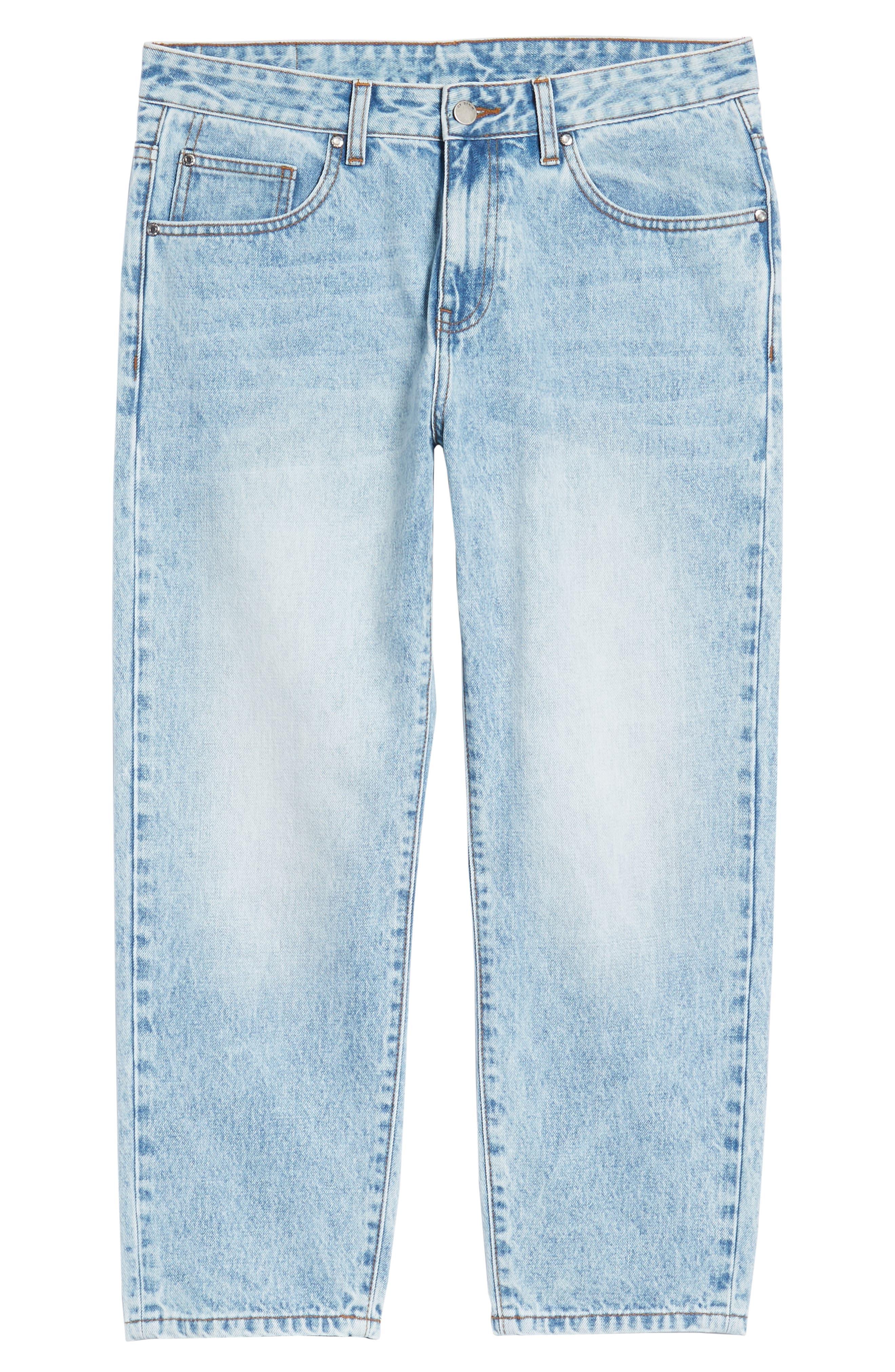 Otis Straight Leg Jeans,                             Alternate thumbnail 6, color,                             Light Blue Wash