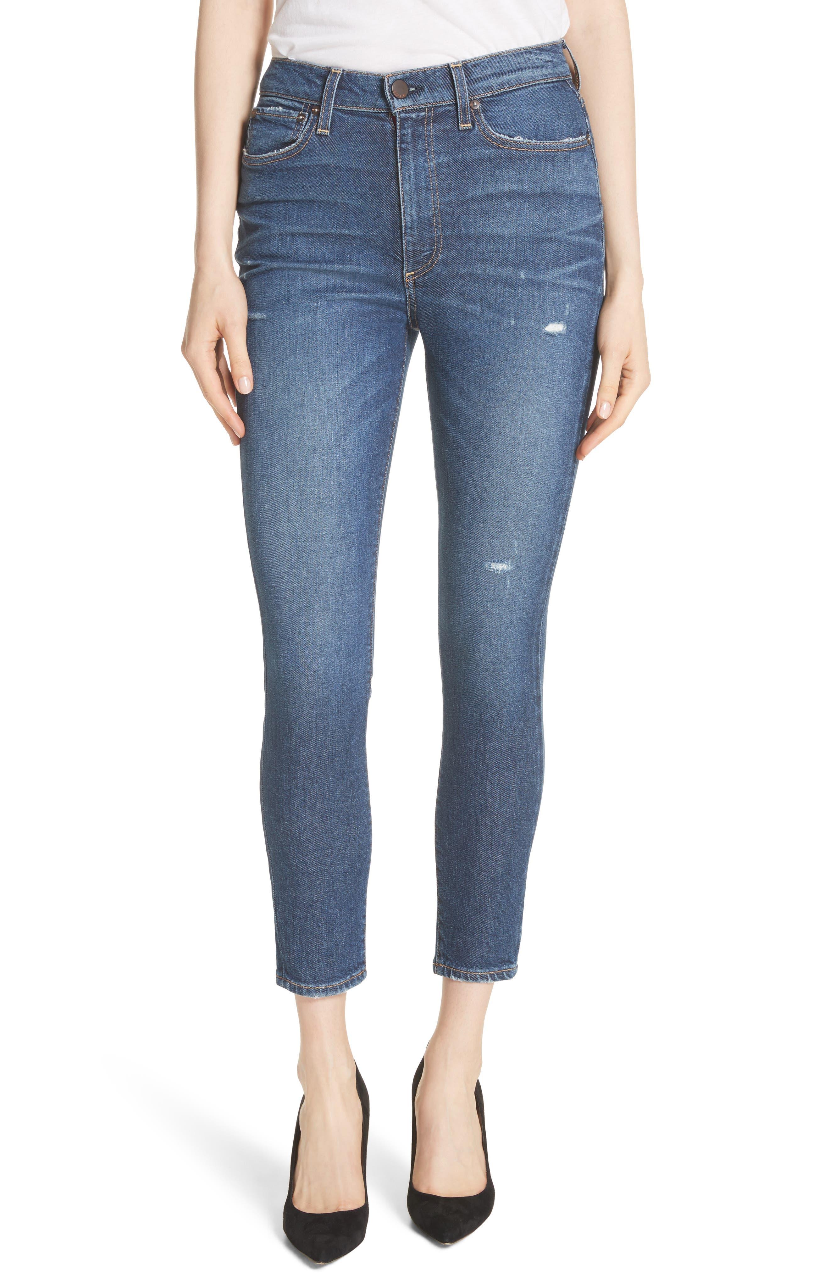 AO.LA Good High Waist Ankle Skinny Jeans,                         Main,                         color, Born To Run