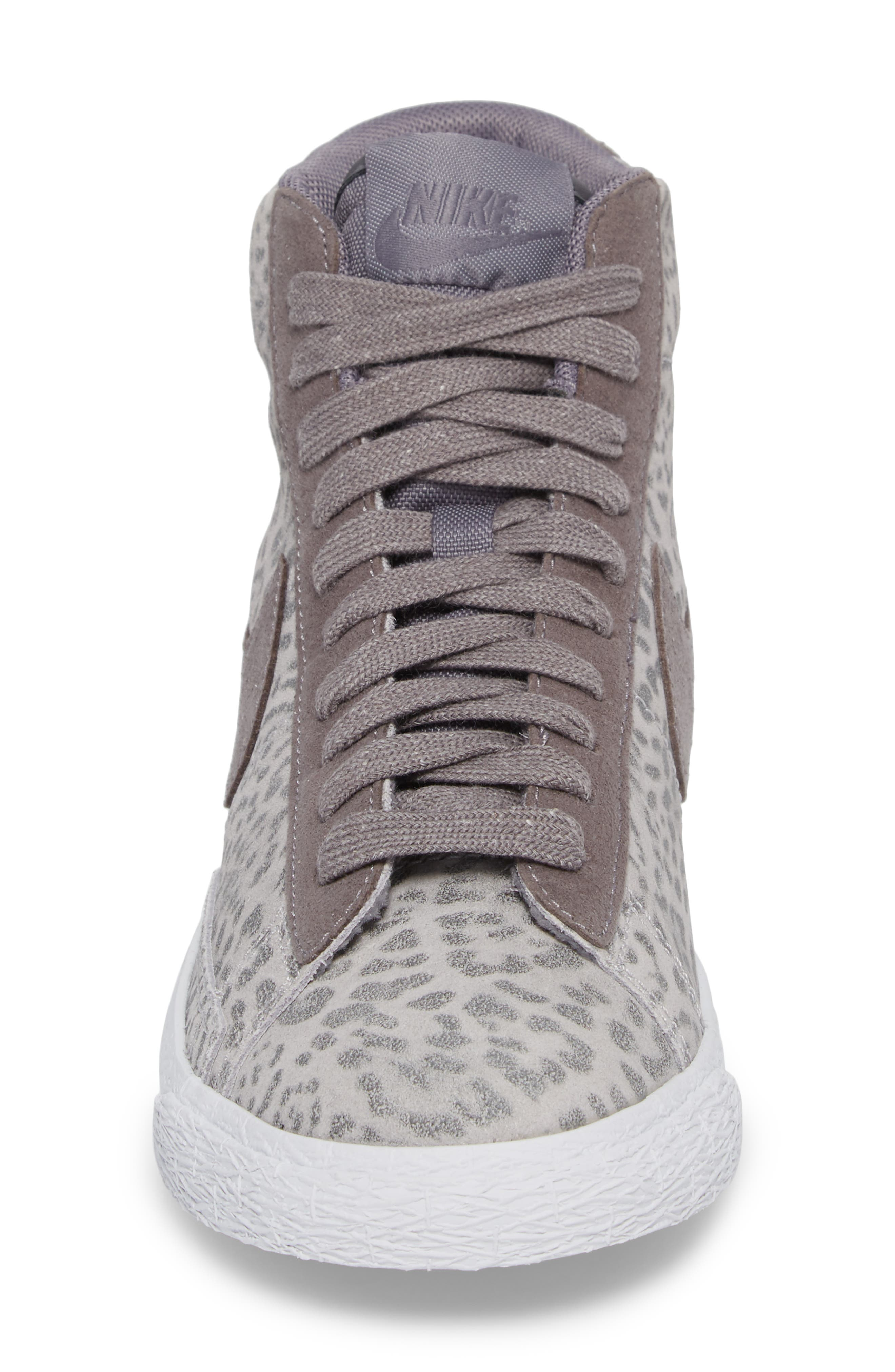 Blazer Mid SE High Top Sneaker,                             Alternate thumbnail 5, color,                             Atmosphere Grey/ Smoke/ Gum