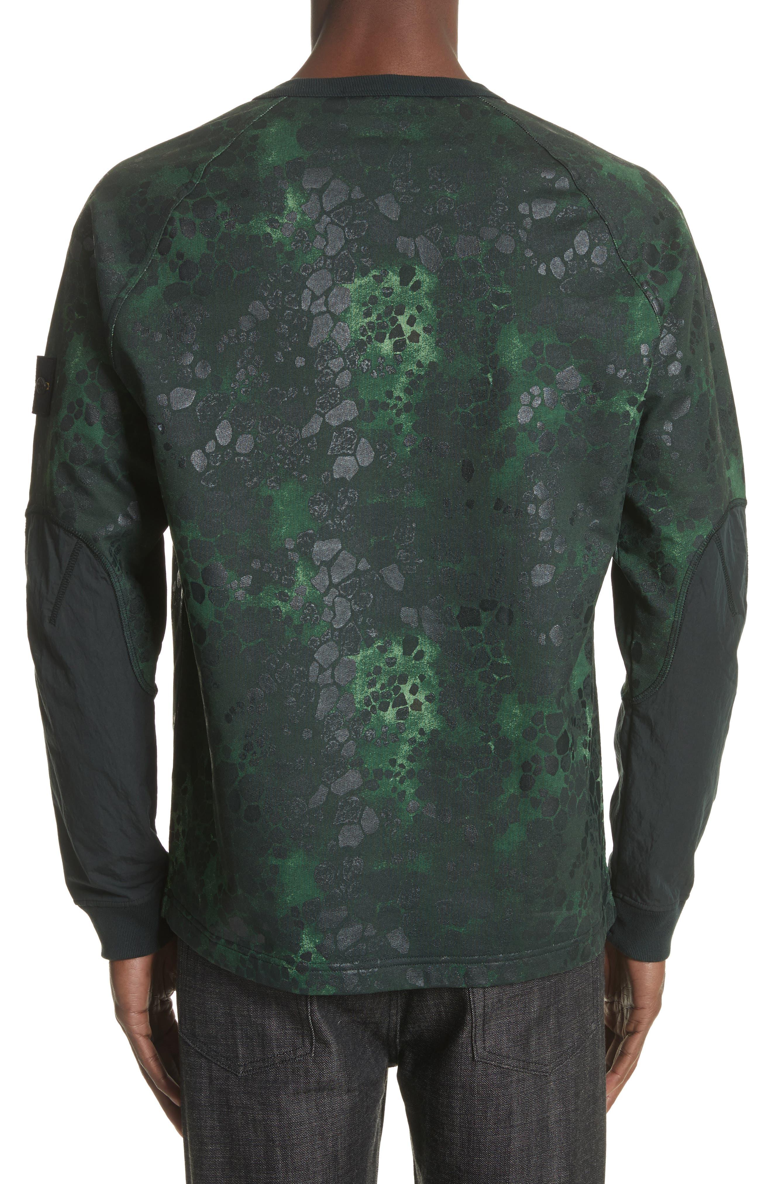 Military Crewneck Sweatshirt,                             Alternate thumbnail 2, color,                             Green