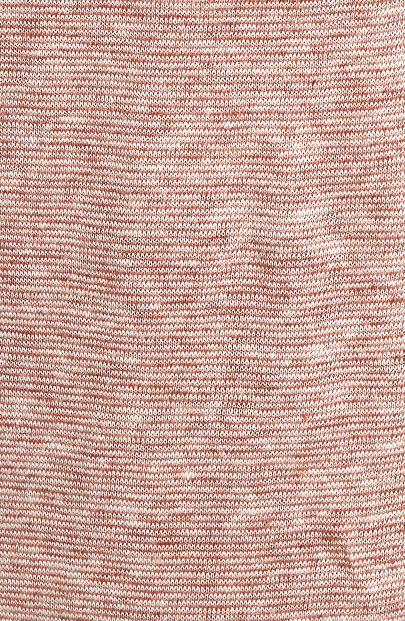 Short Sleeve Linen Henley,                             Alternate thumbnail 5, color,                             Tan Adobe Stripe