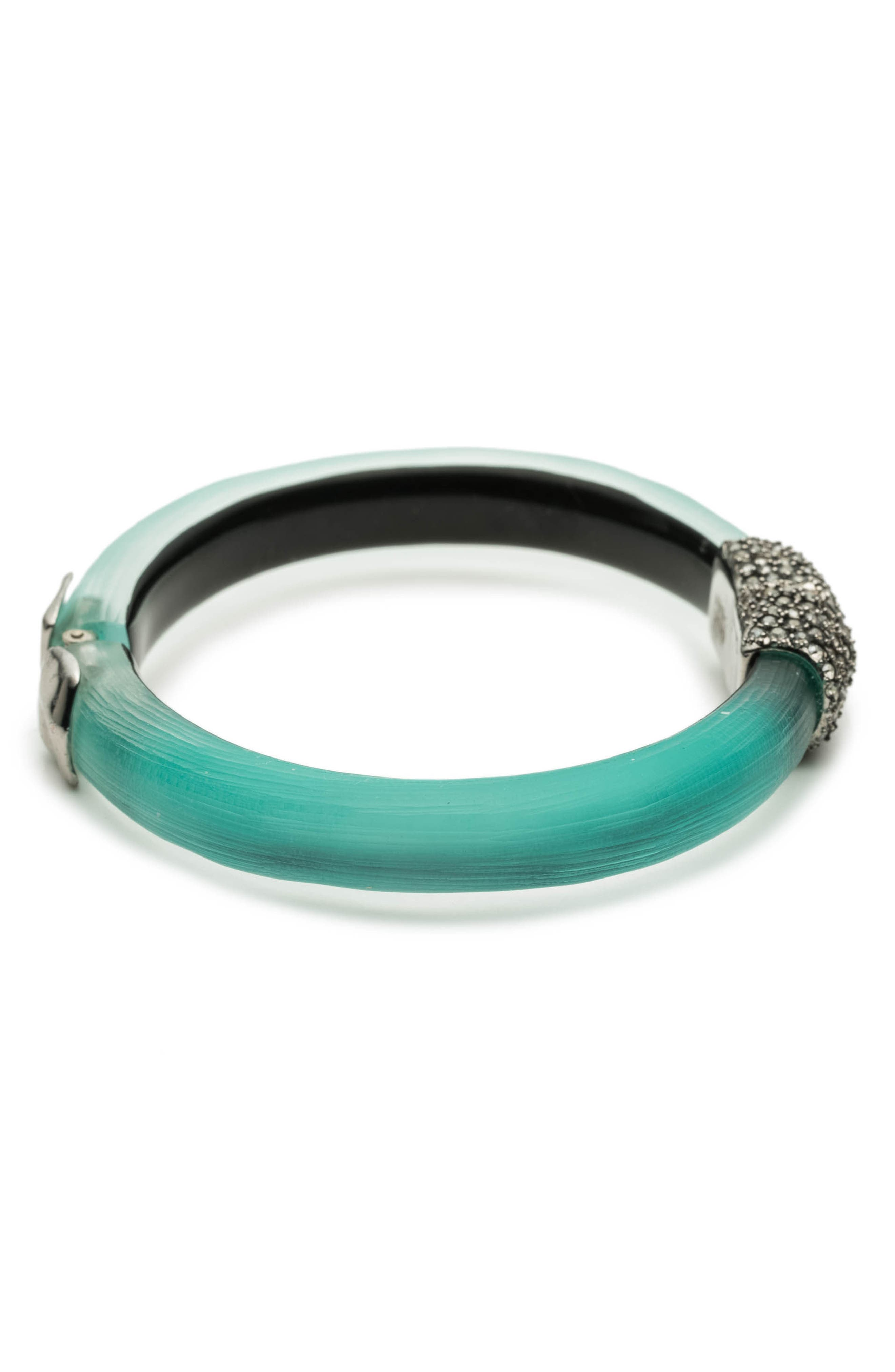 Skinny Hinge Bracelet,                             Alternate thumbnail 3, color,                             Mint Green