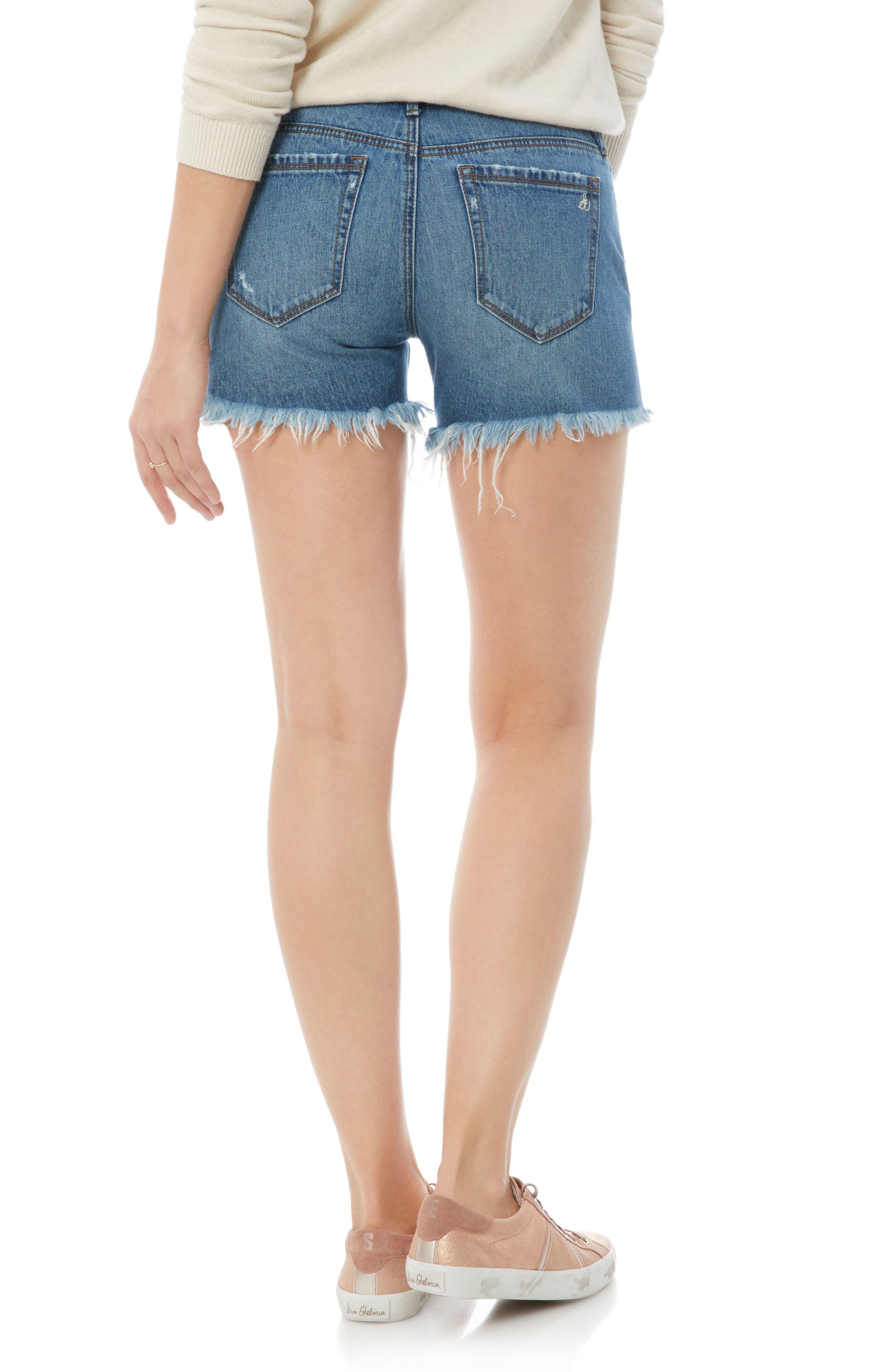 Distressed Denim Cutoff Shorts,                             Alternate thumbnail 2, color,                             Dannie