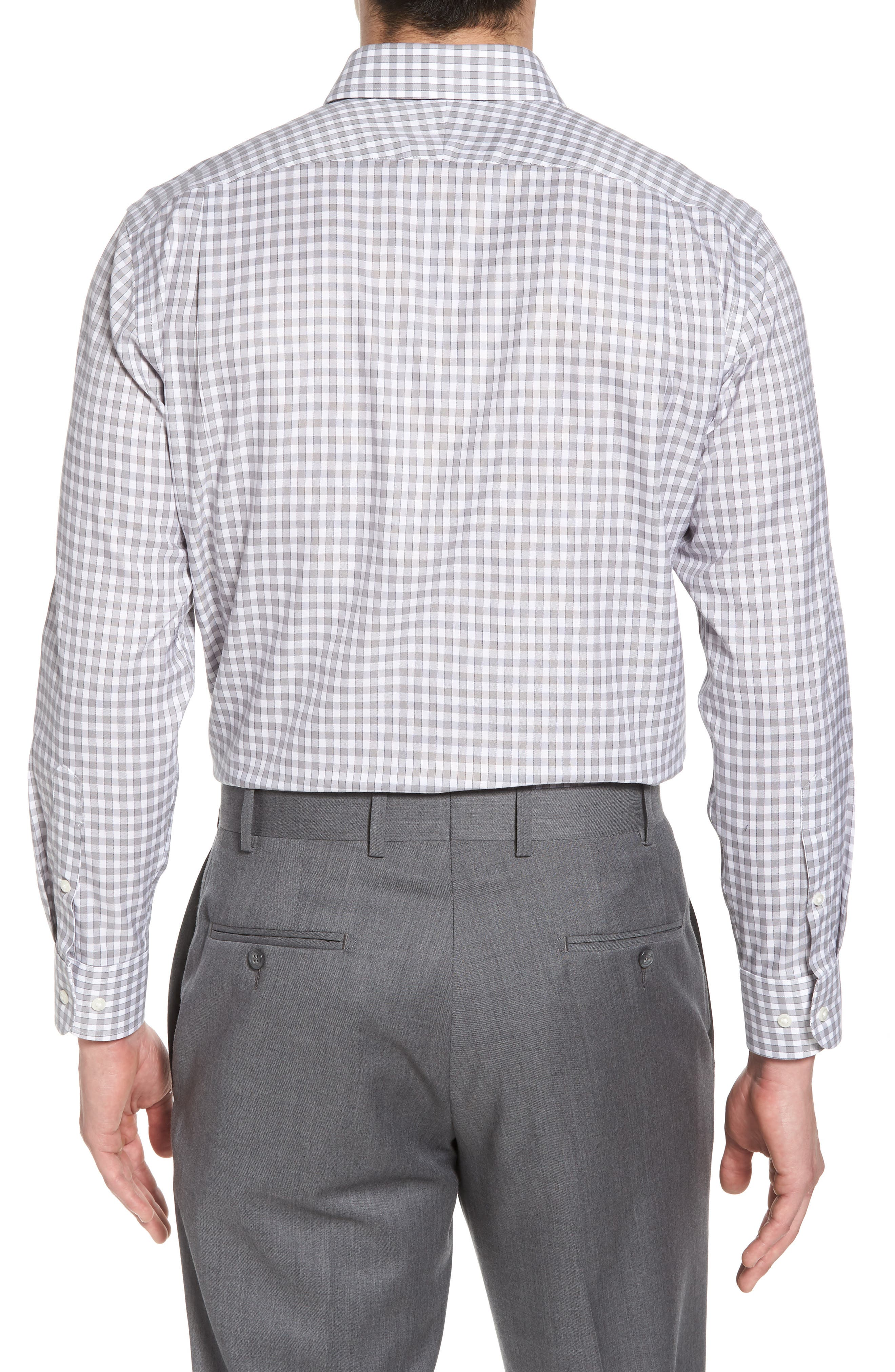 Alternate Image 2  - Nordstrom Men's Shop Smartcare™ Trim Fit Check Dress Shirt
