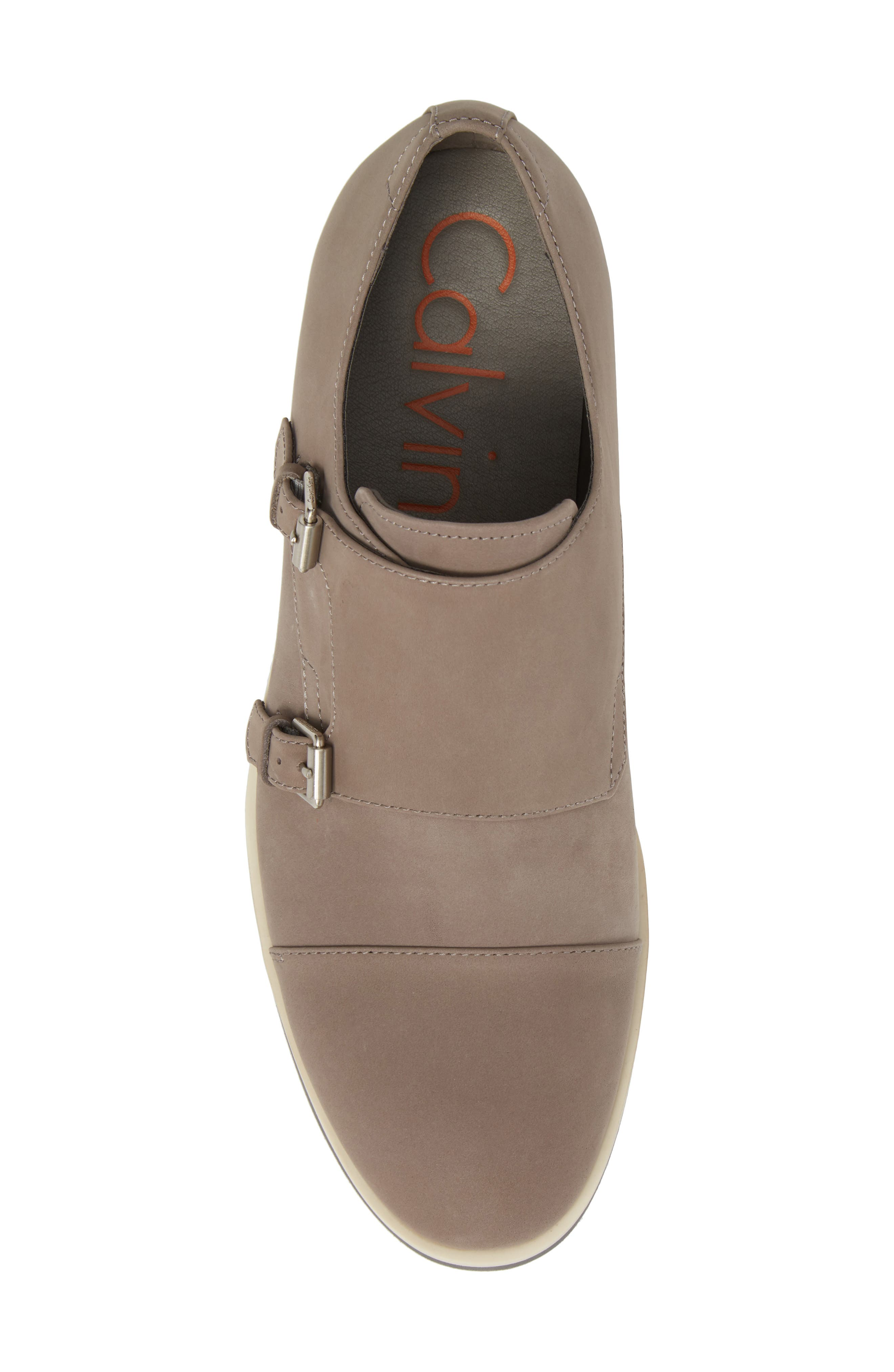 Finch Double Monk Strap Shoe,                             Alternate thumbnail 5, color,                             Toffee Leather