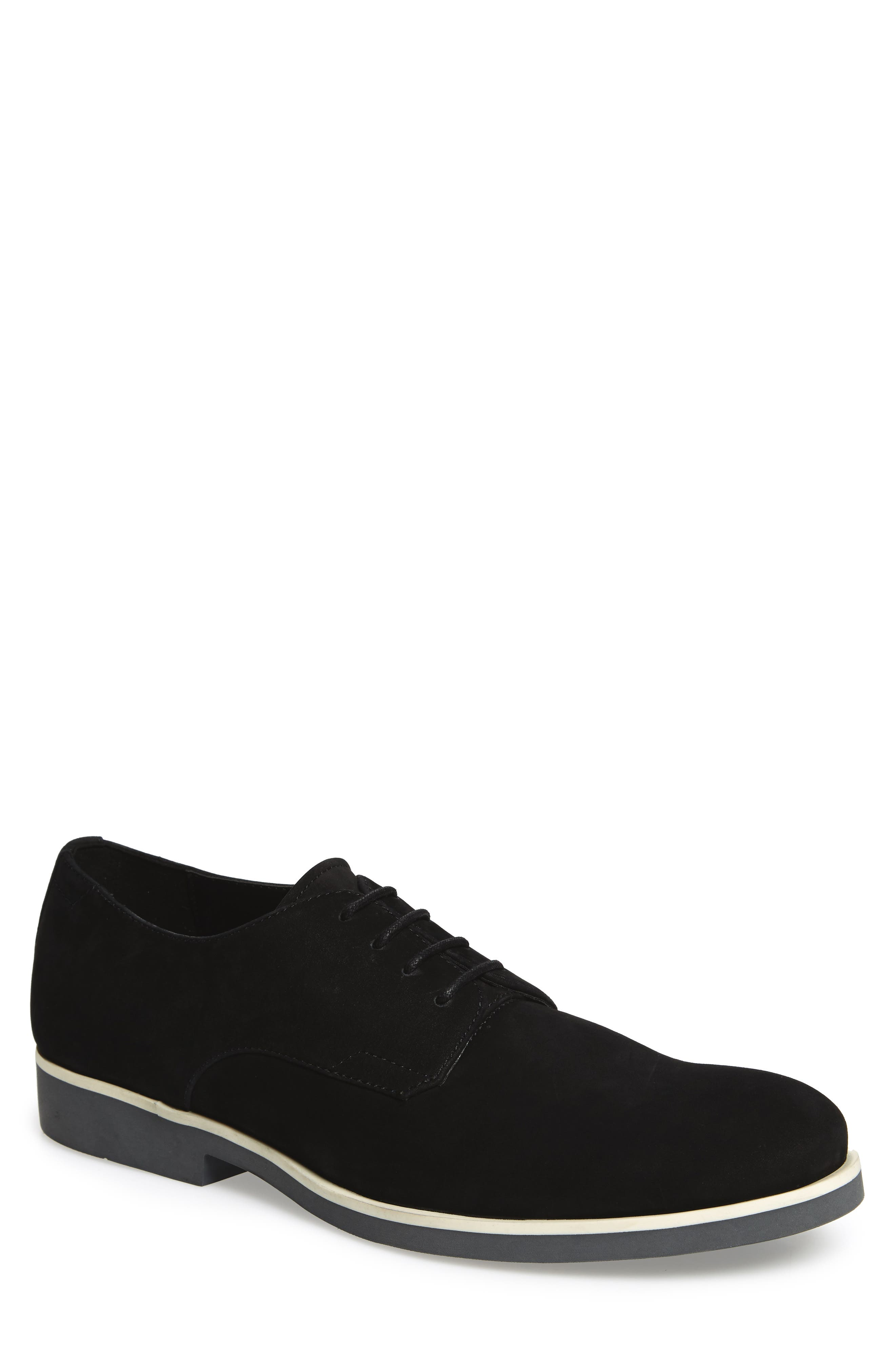 Faustino Plain-Toe Oxford,                             Main thumbnail 1, color,                             Black Leather