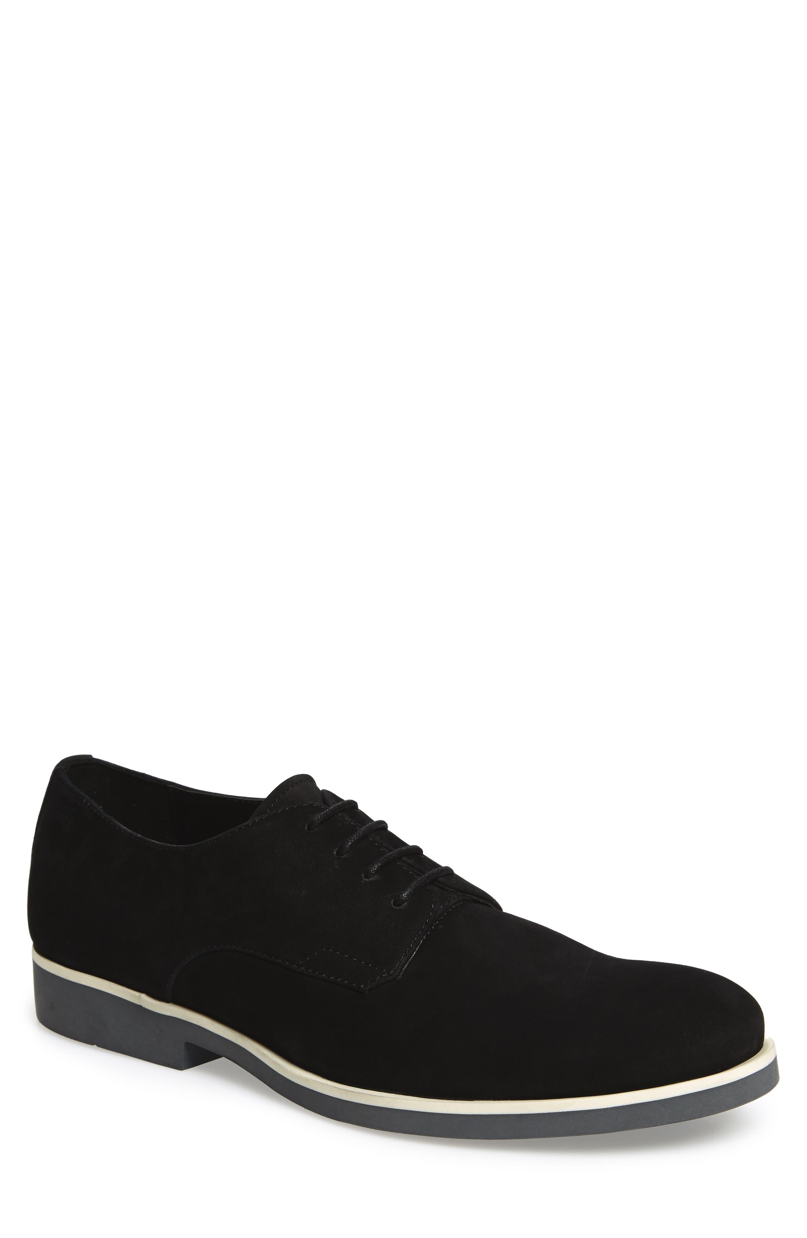 Faustino Plain-Toe Oxford,                         Main,                         color, Black Leather