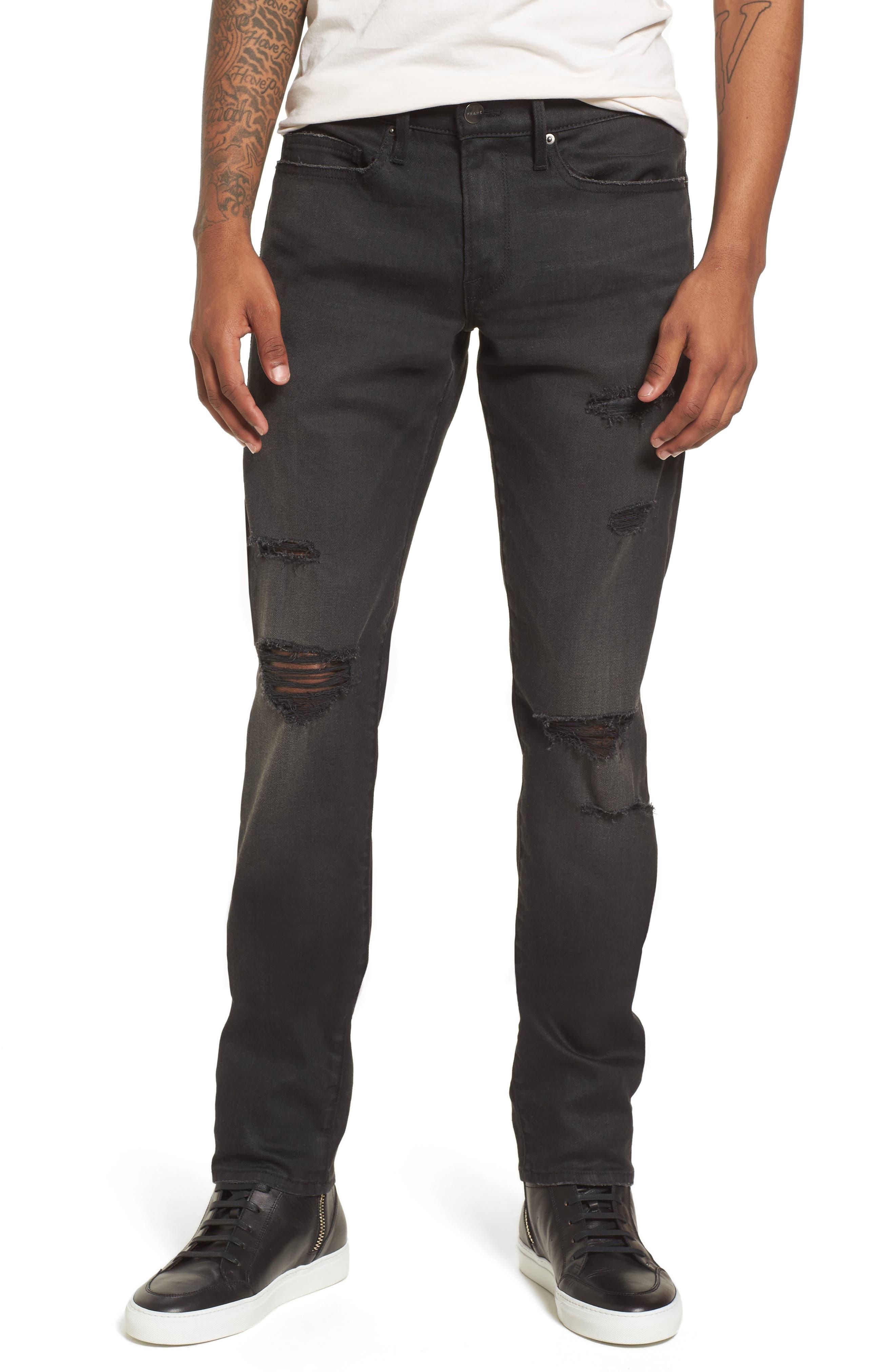 FRAME L'Homme Slim Straight Fit Jeans (Flintwood)