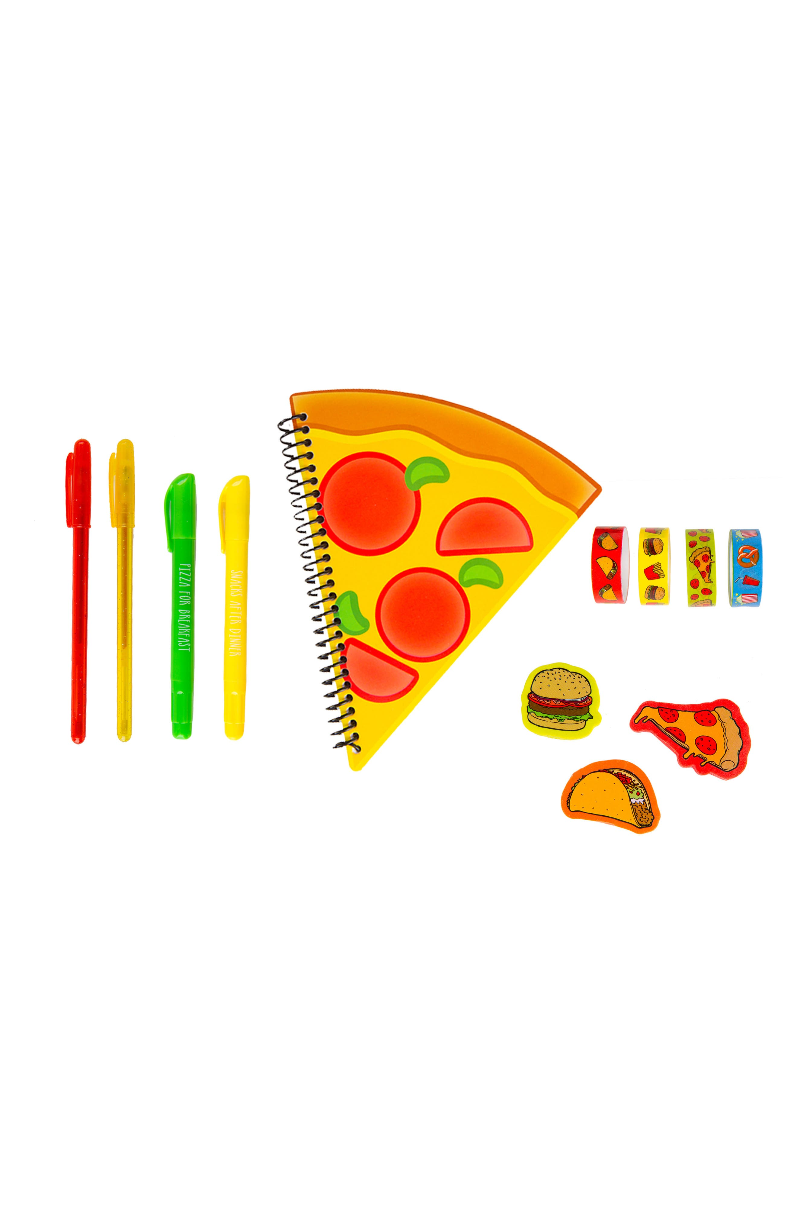 Junk Food 12-Piece Scented Stationery Set,                             Alternate thumbnail 2, color,                             Red
