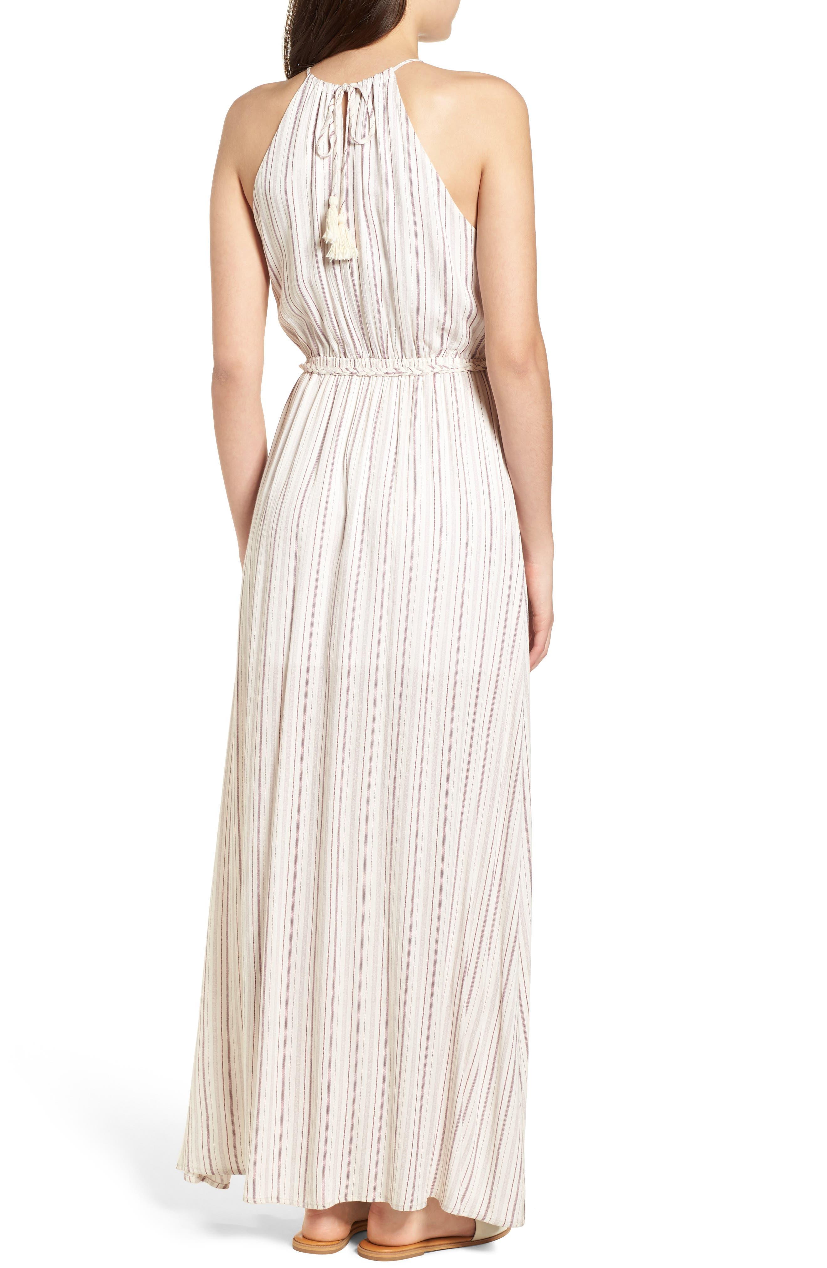 Daydreamer Stripe Maxi Dress,                             Alternate thumbnail 2, color,                             Ivory/ Mauve