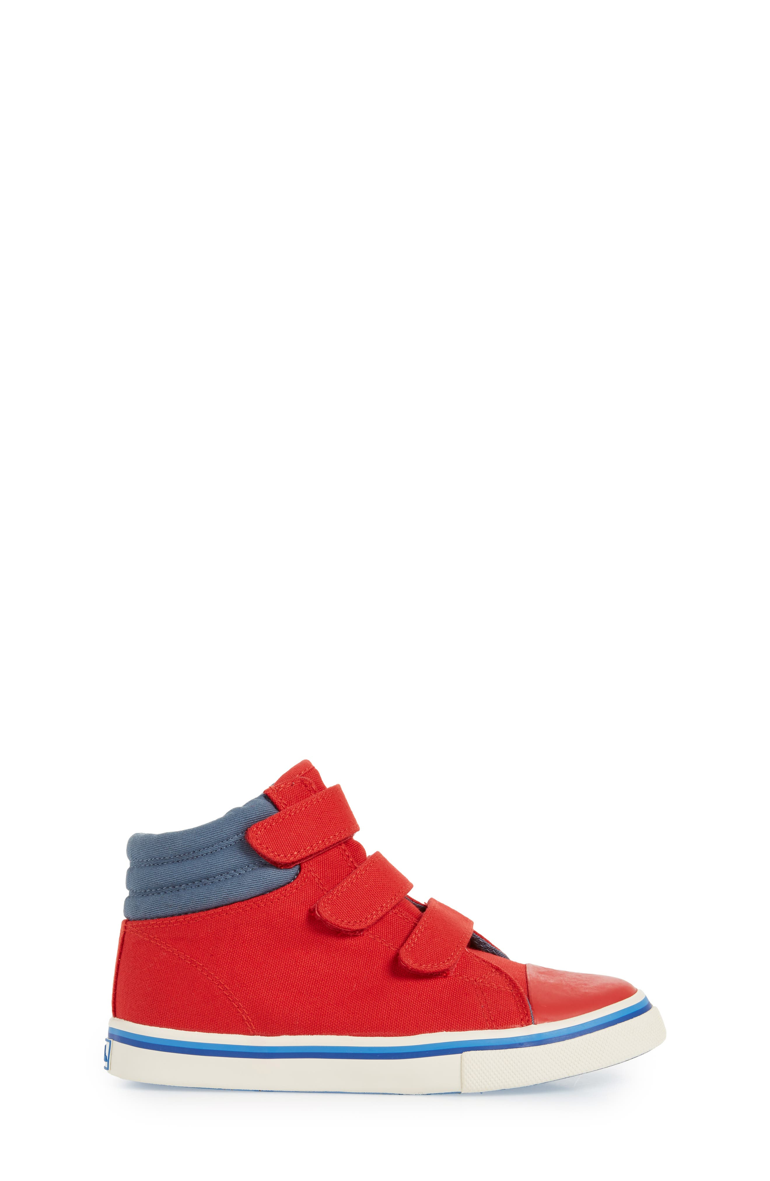 High Top Sneaker,                             Alternate thumbnail 3, color,                             Salsa Red