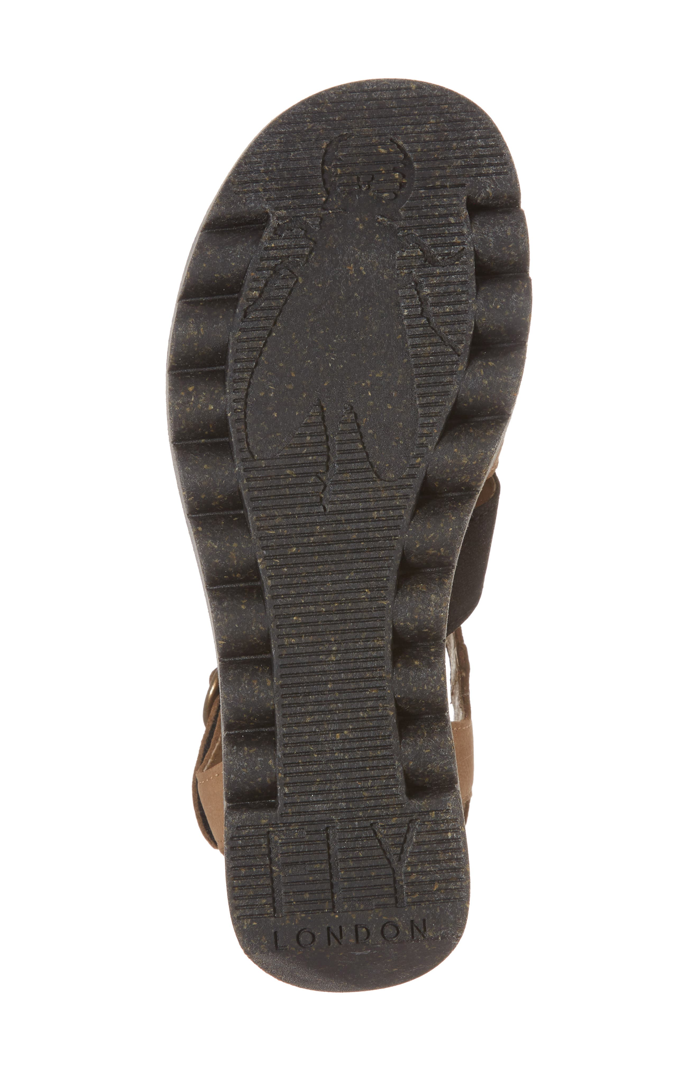 Yuni Wedge Sandal,                             Alternate thumbnail 6, color,                             Black/ Sand Cupido Leather